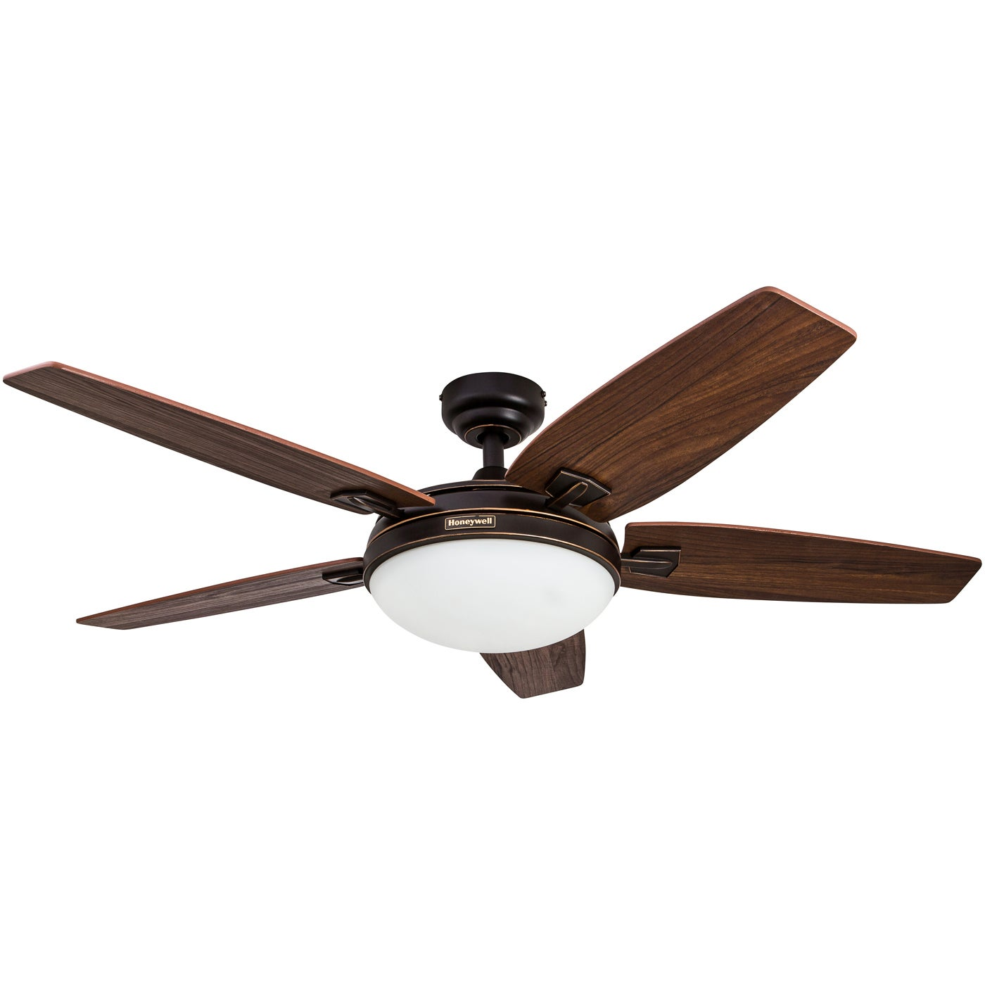 """48"""" Honeywell Carmel Oil Rubbed Bronze Ceiling Fan with Integrated"""