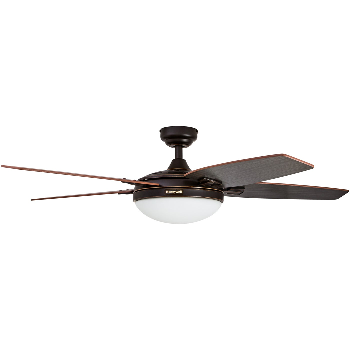 "48"" Honeywell Carmel Oil Rubbed Bronze Ceiling Fan with Integrated"