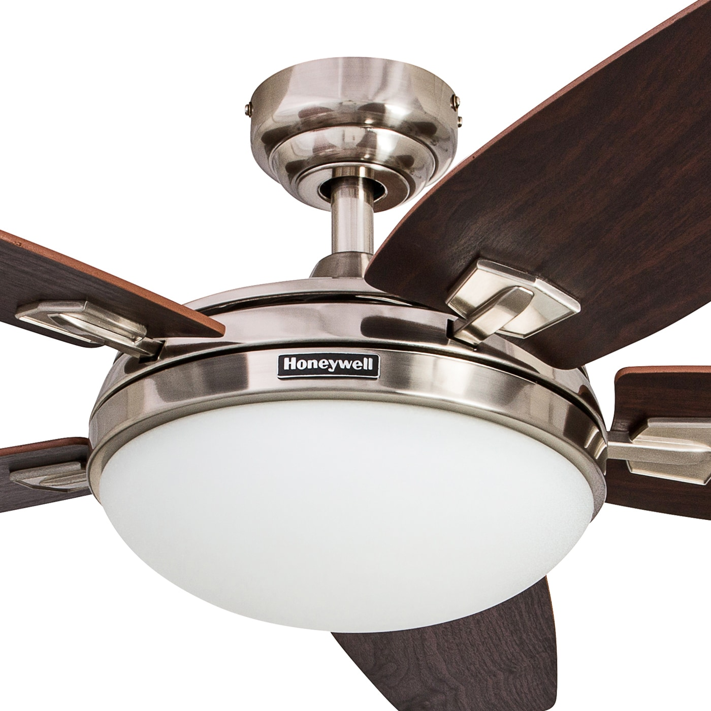 "48"" Honeywell Carmel Brushed Nickel Ceiling Fan with Integrated"
