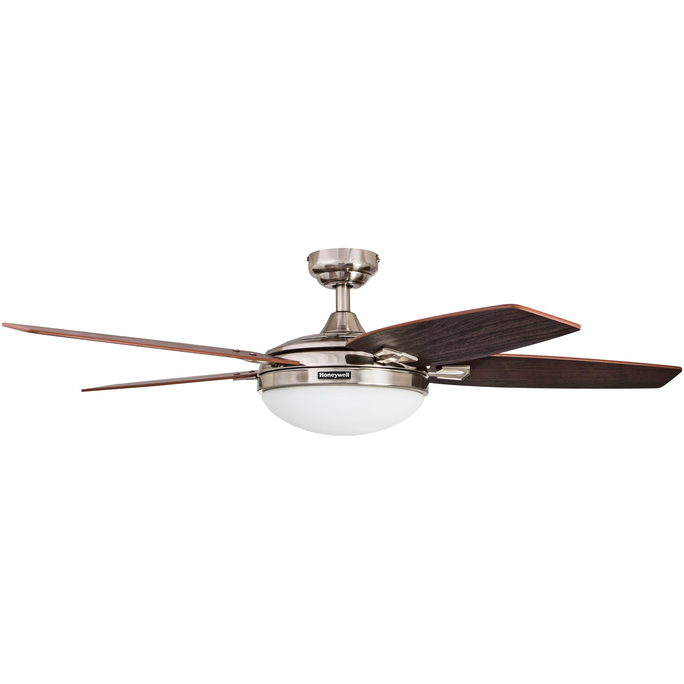 """48"""" Honeywell Carmel Brushed Nickel Ceiling Fan with Integrated"""