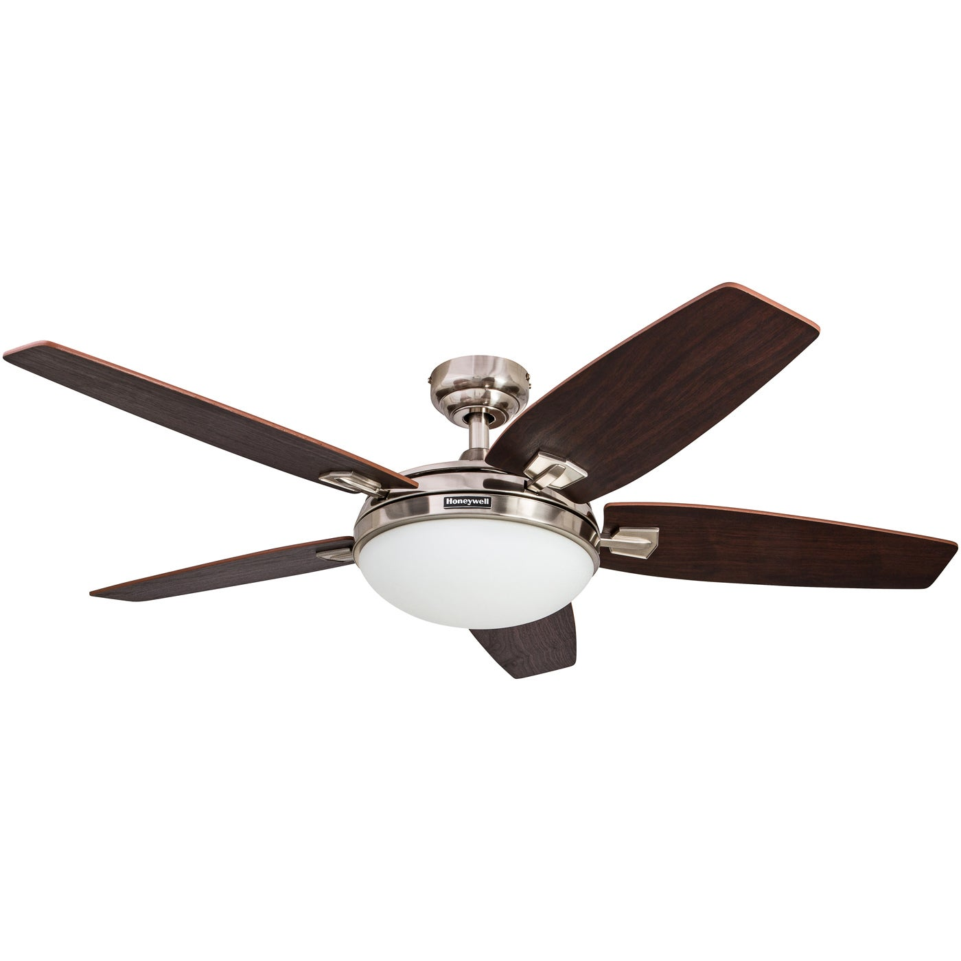 Shop 48 honeywell carmel brushed nickel ceiling fan with integrated shop 48 honeywell carmel brushed nickel ceiling fan with integrated light and remote free shipping today overstock 16000064 aloadofball Choice Image