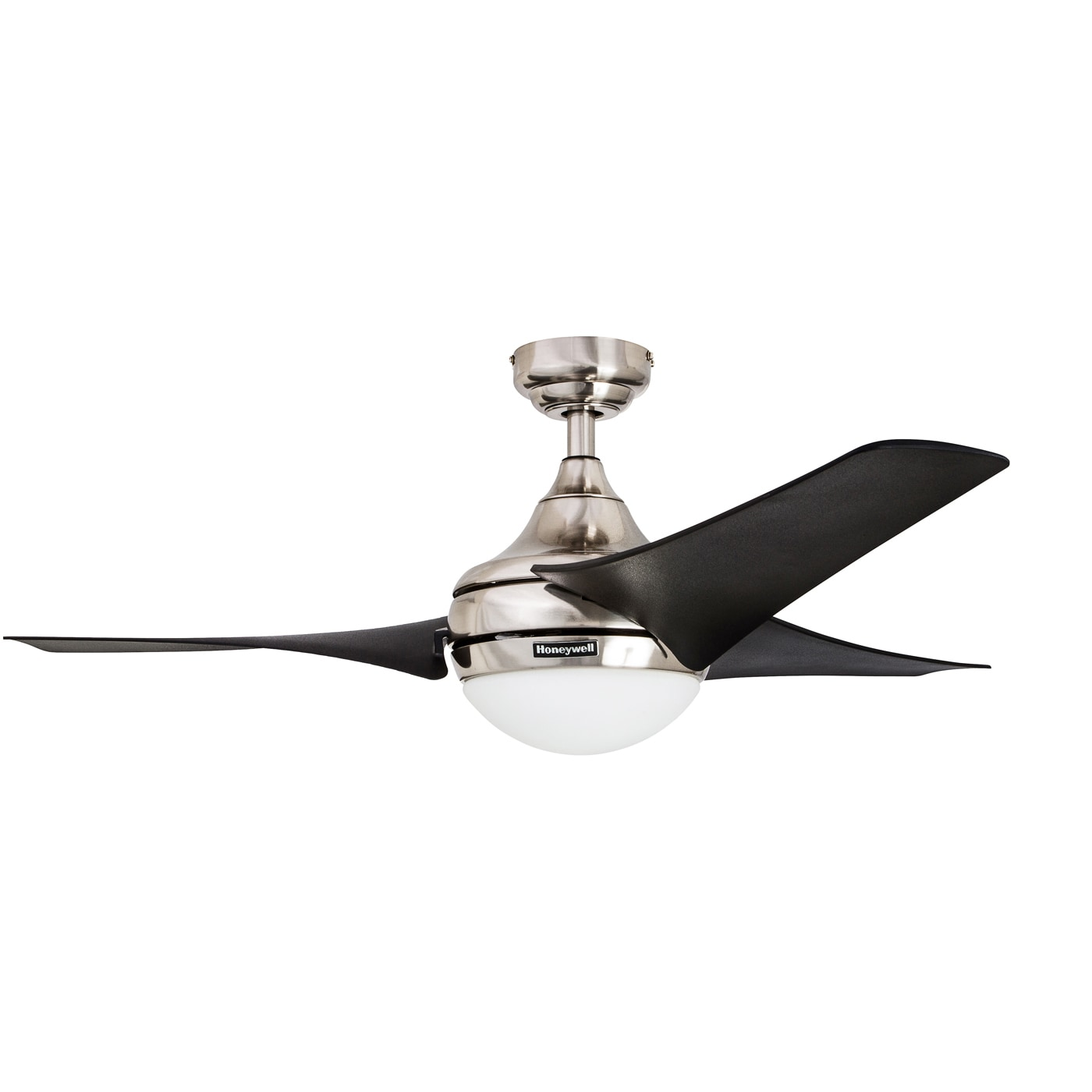 "54"" Honeywell Rio Brushed Nickel 3 Blade Ceiling Fan with"