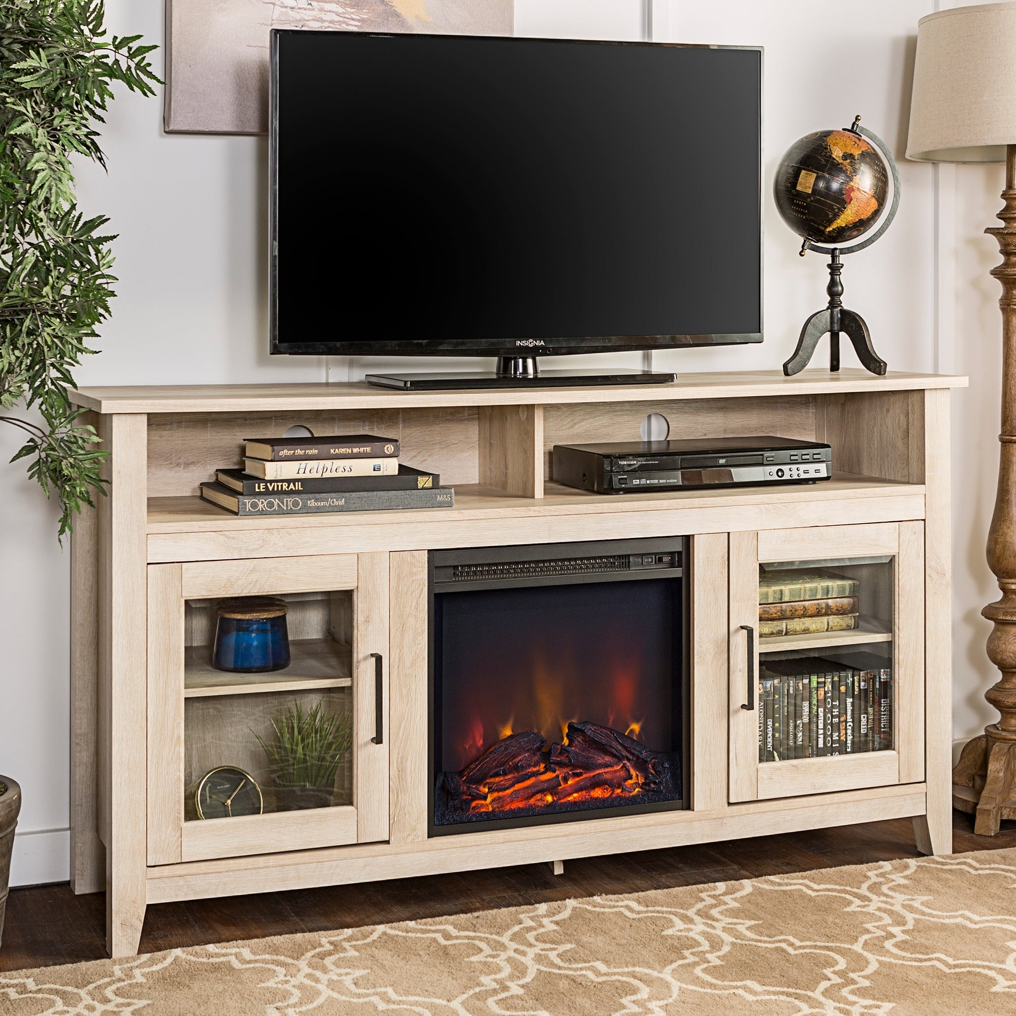 Shop 58 Highboy Fireplace Tv Stand Console 58 X 16 X 32h Free