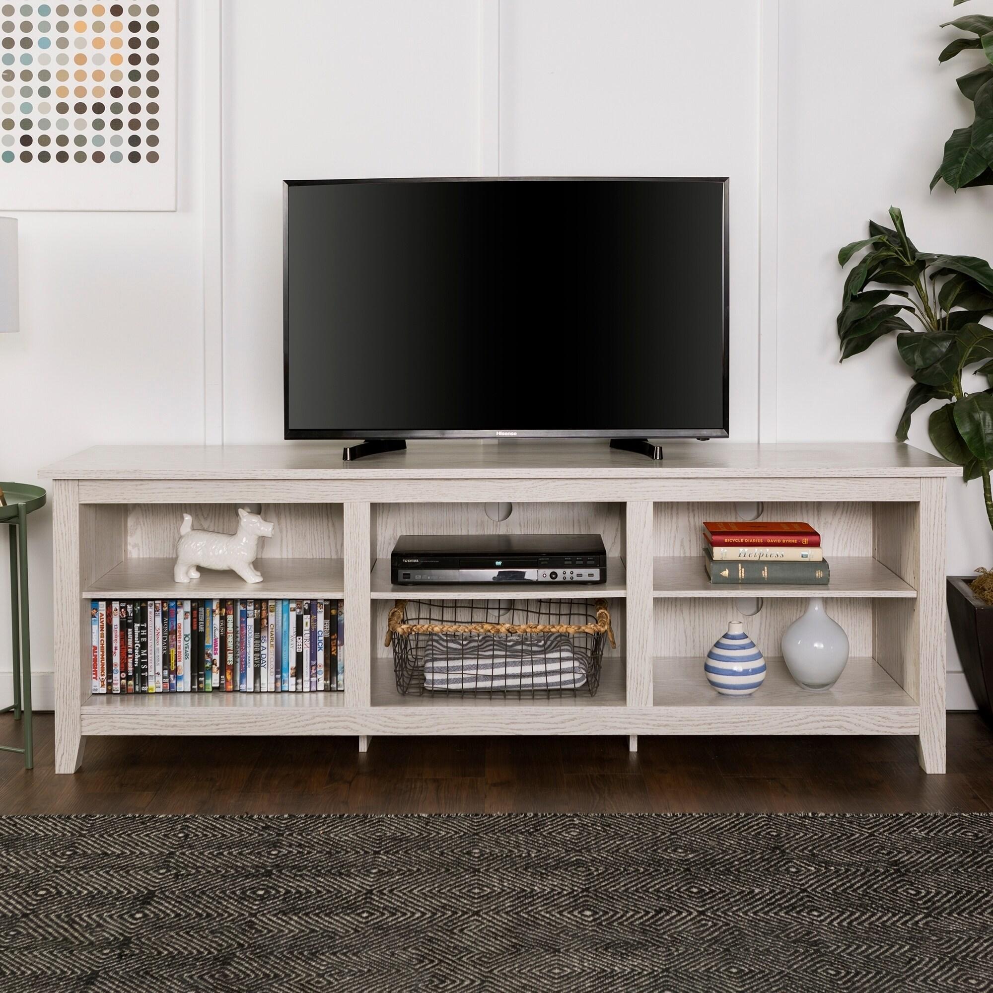 Shop Porch Den Dexter 70 Inch Wood Media Tv Stand On Sale Free