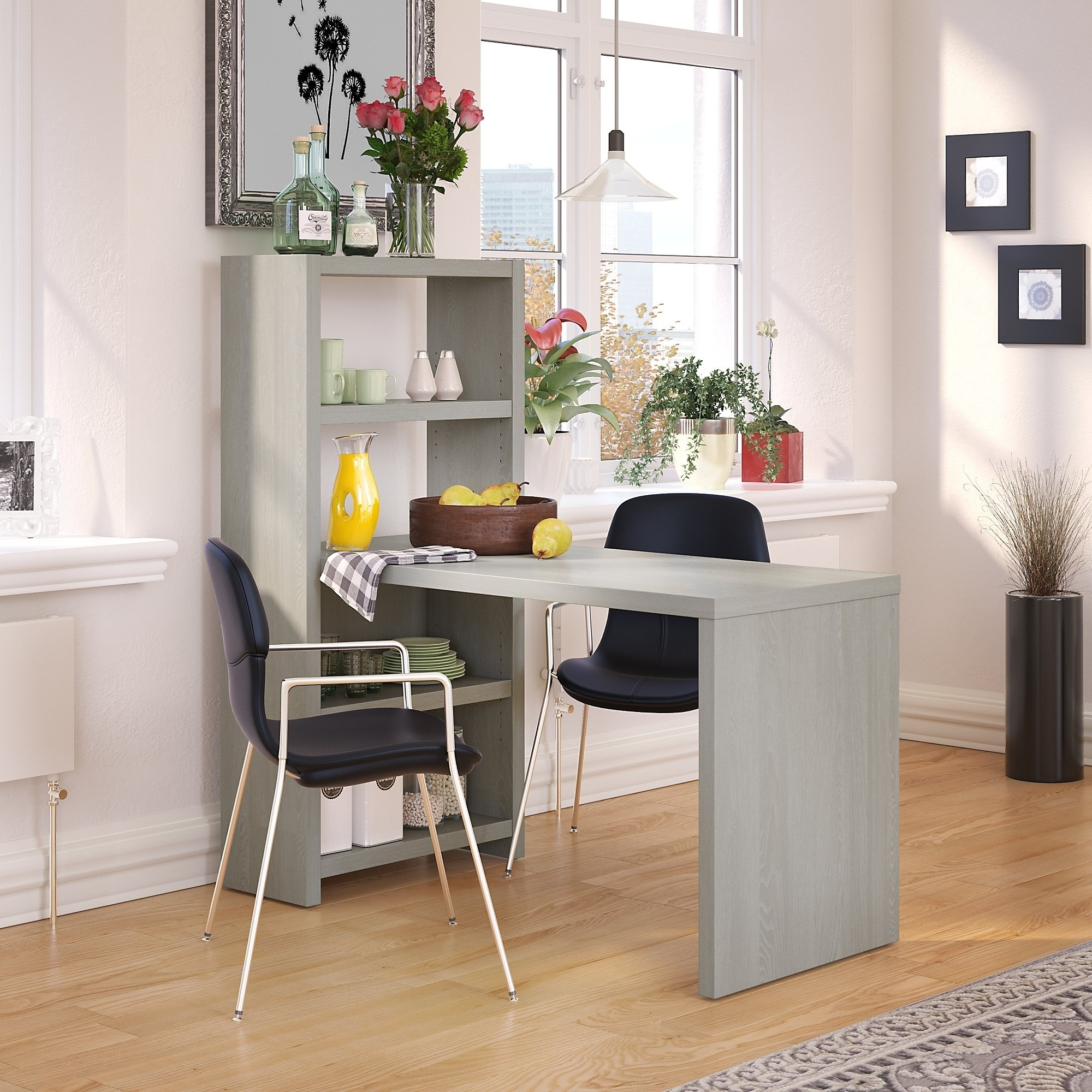 Office By Kathy Ireland Echo 56w Dining Table Free Shipping Today 16003487