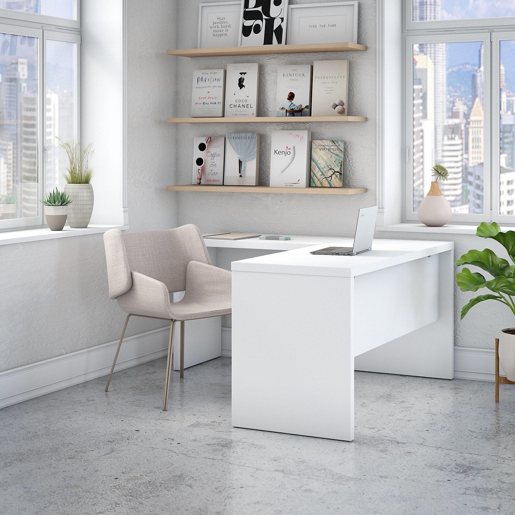 Office by kathy ireland echo l shaped desk 18 reviews sale