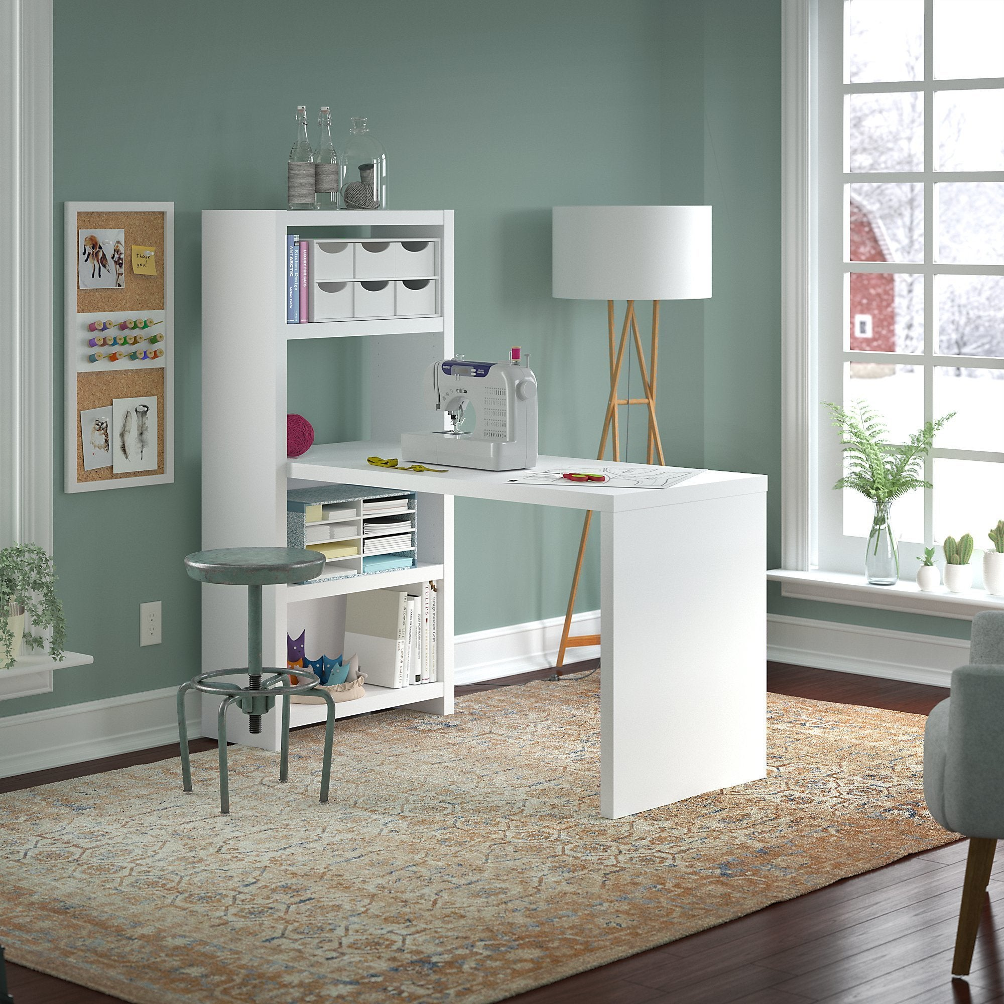 Shop office by kathy ireland echo 56w craft table on sale free shipping today overstock com 16003559