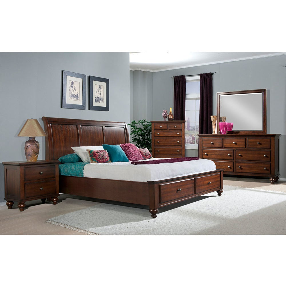 p quick nightstand mirror view suite bk chest bedroom king dresser piece arcadia bed