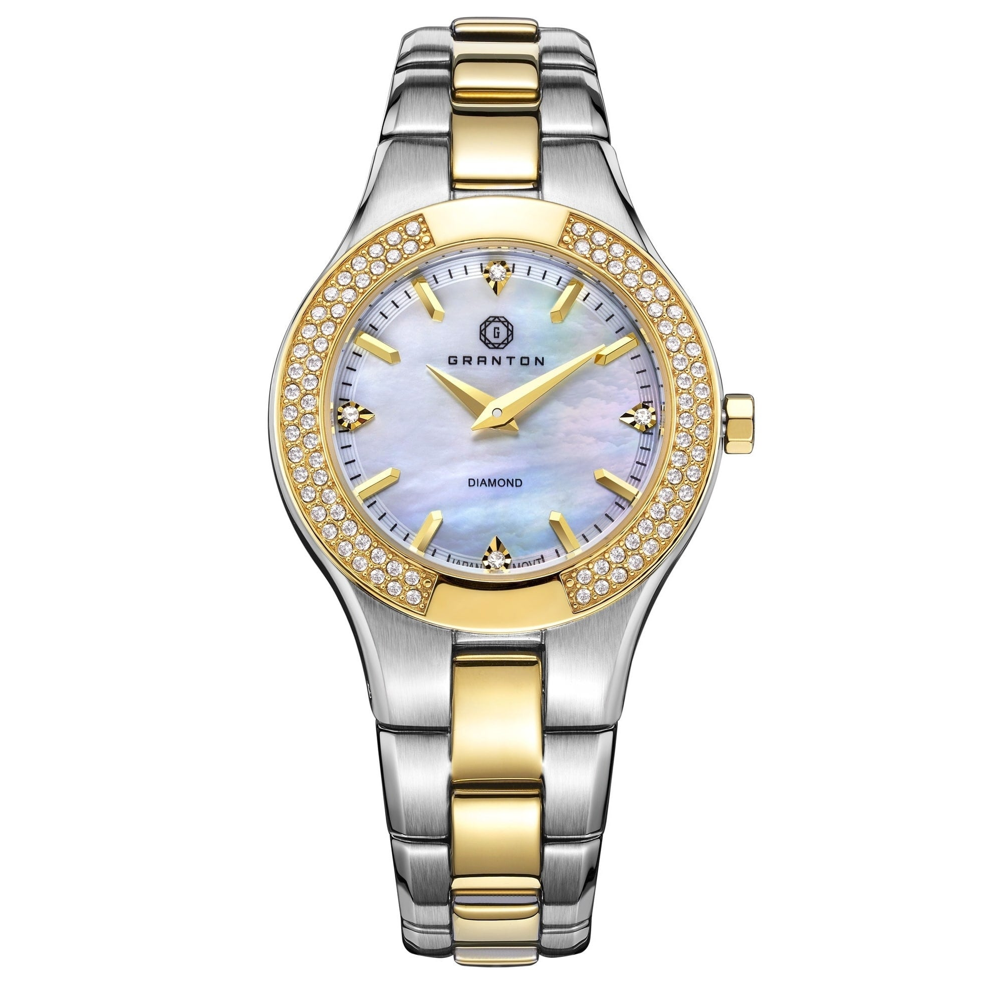 Granton \'Presence\' Women\'s Mother of Pearl and Diamond Accented ...