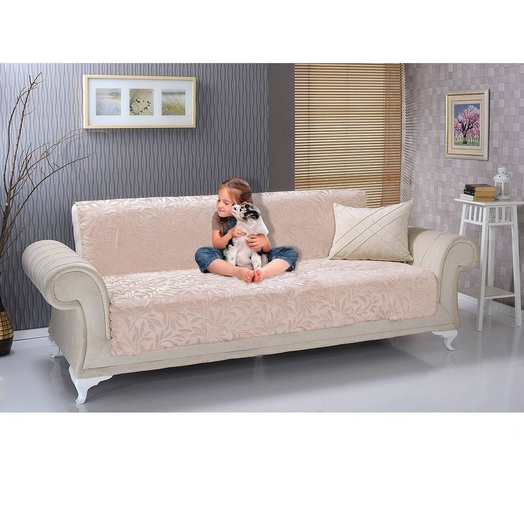 Shop Chiara Rose Anti Slip Armless 1  Piece Sofa Shield Furniture Protector    Free Shipping Today   Overstock.com   16005265