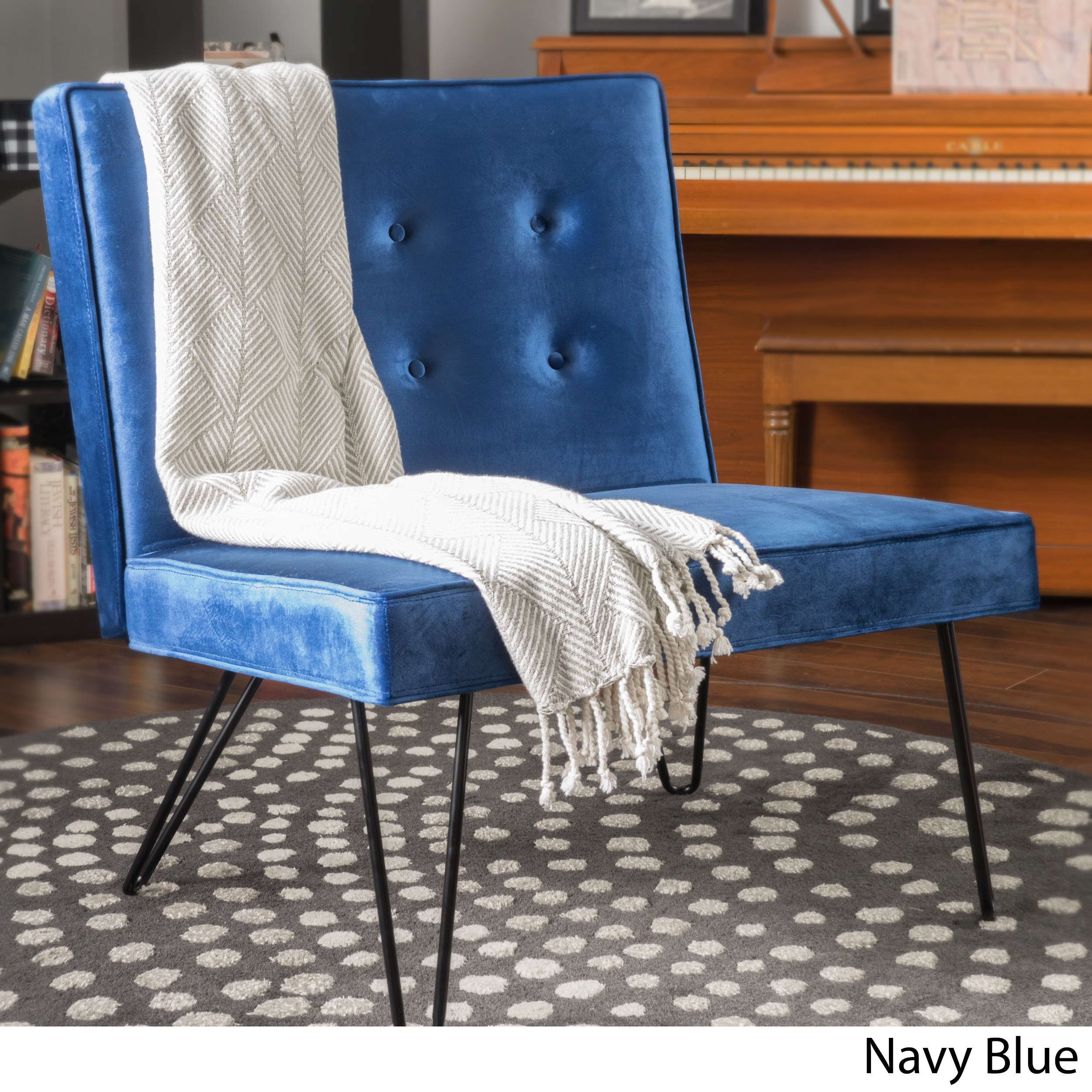Darrow Modern Velvet Armless Chair By Christopher Knight Home   Free  Shipping Today   Overstock   22422283