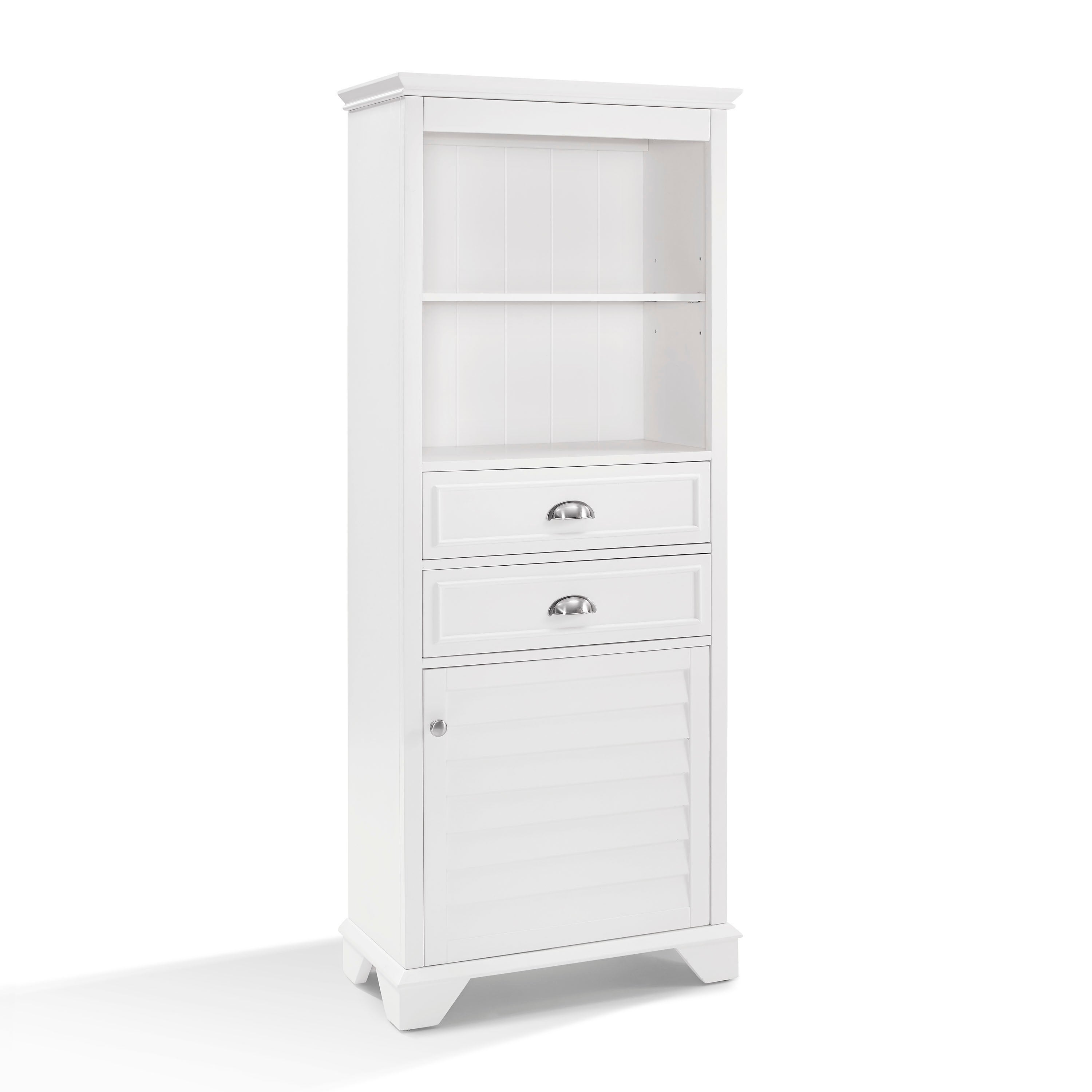 Bon Shop Lydia Tall Cabinet In White   Free Shipping Today   Overstock    16047294