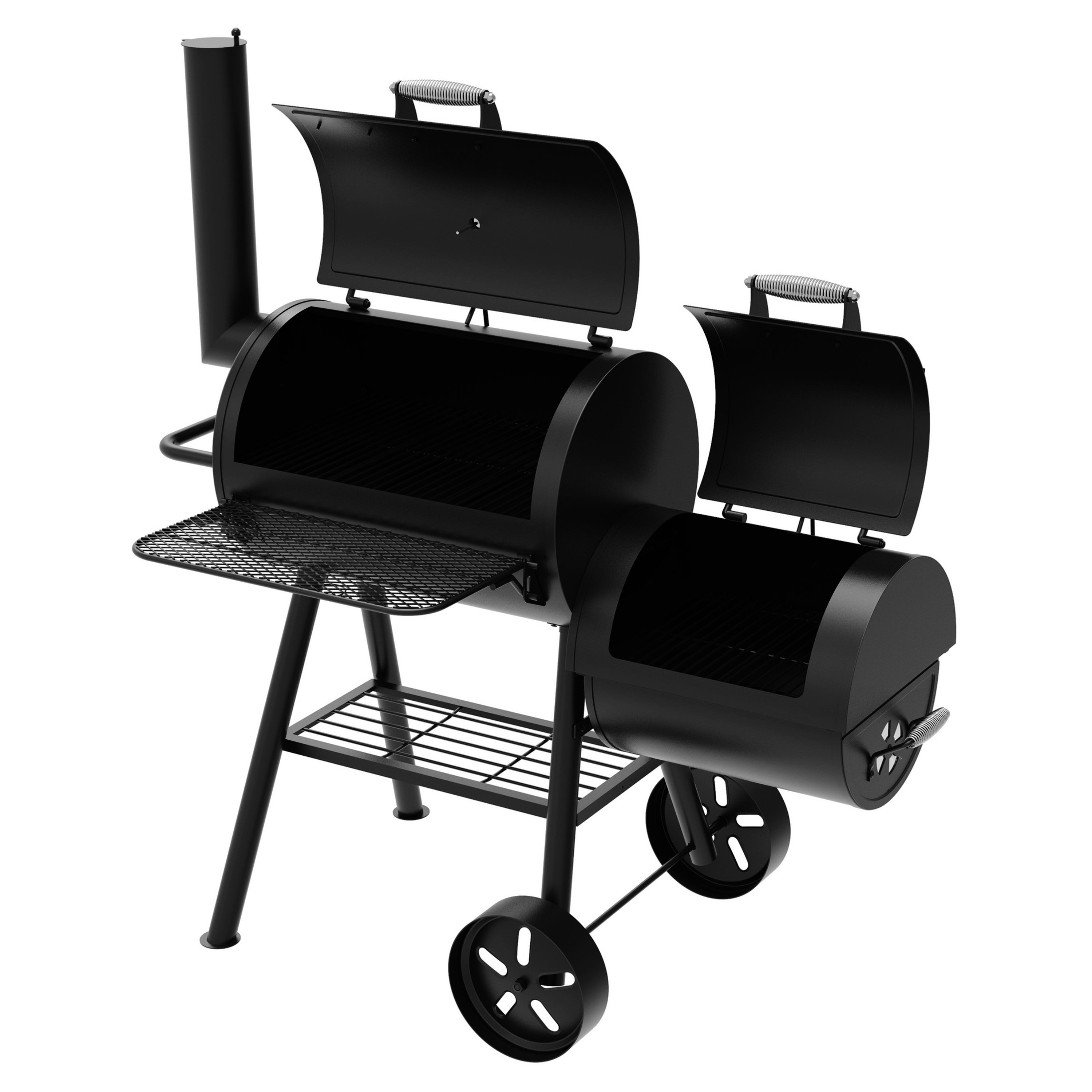 Dyna Glo Signature Series Dgss730cbo D Barrel Charcoal Grill And Side Firebox