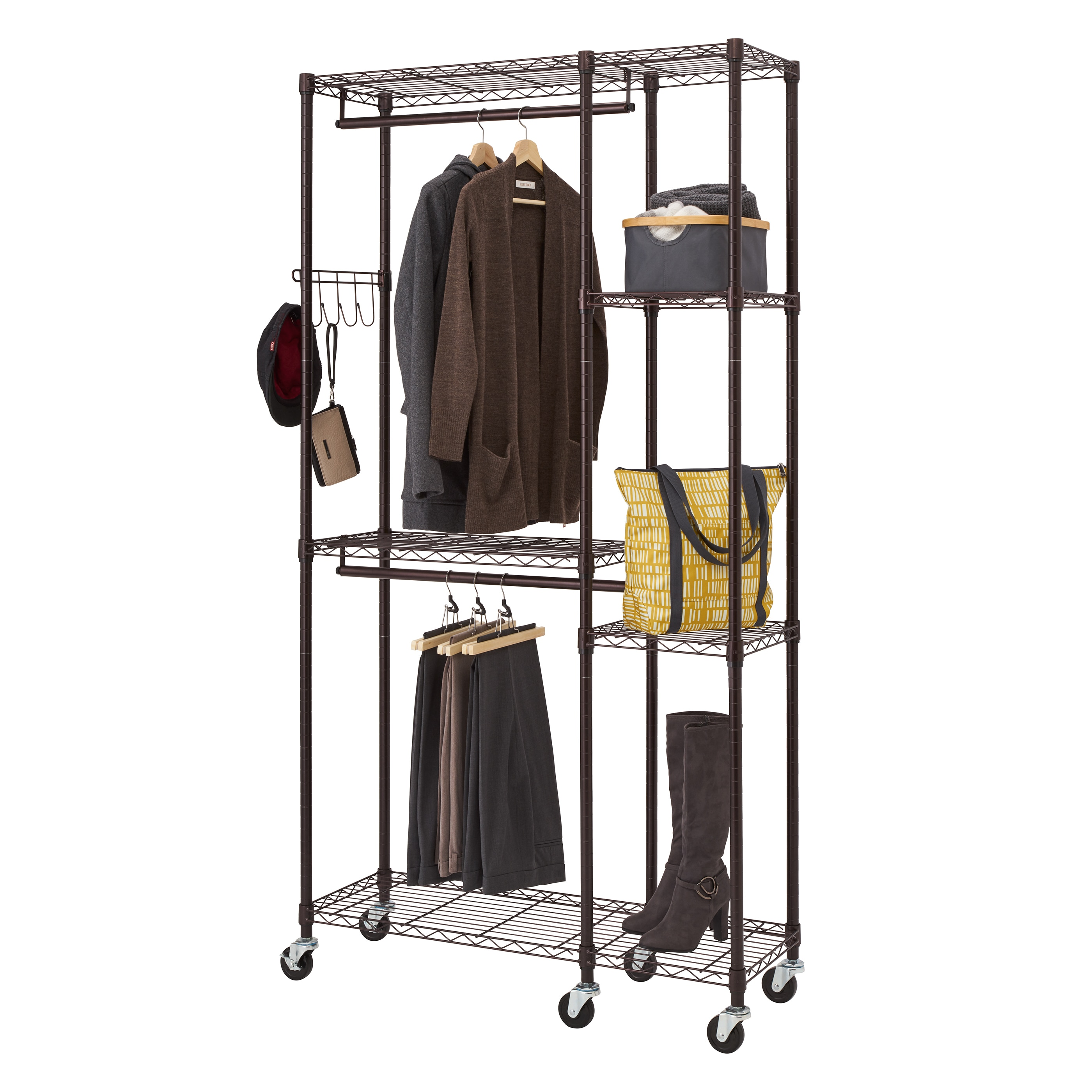 solid wardrobe solution vintage the coat rack fullxfull cranworth shelf rail listing clothes style il metal hallway with industrial