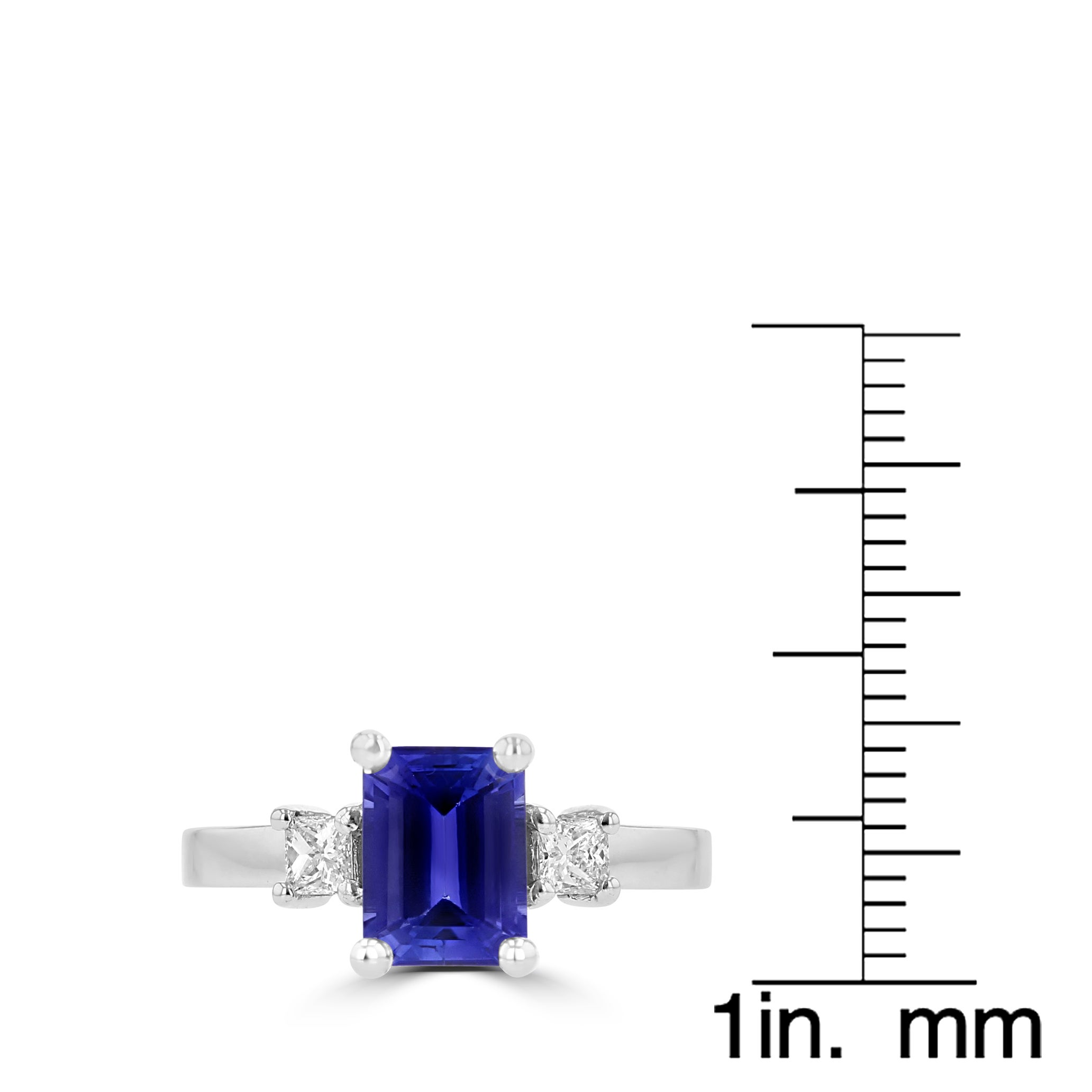 t tanzanite white diamond center and w ring cut grams oval gold tw carats round l princess