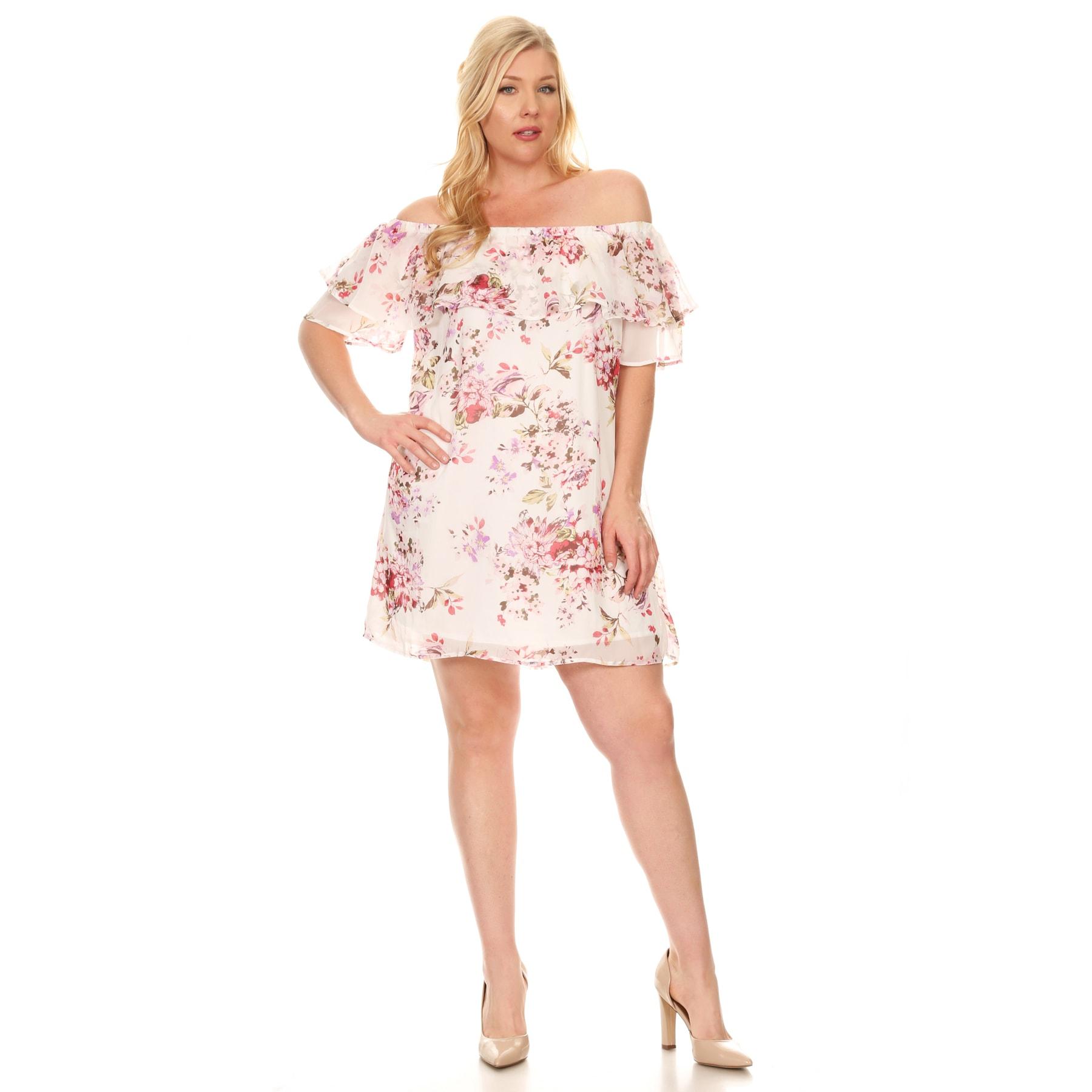 cb6f0ed3e2a Plus Size Floral Print Summer Dresses - Data Dynamic AG