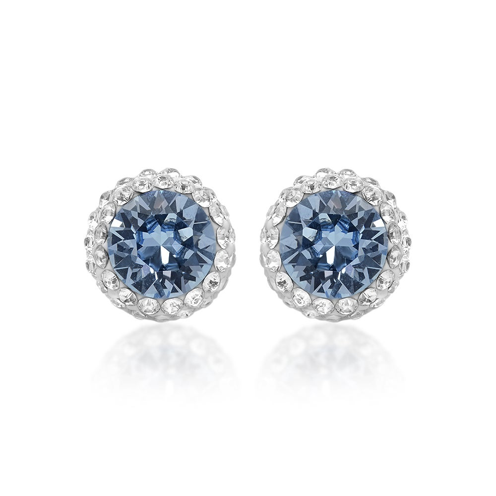 Marabela Sterling Silver Blue Swarovski Crystal Elements Stud Earrings On Free Shipping Orders Over 45 16066708
