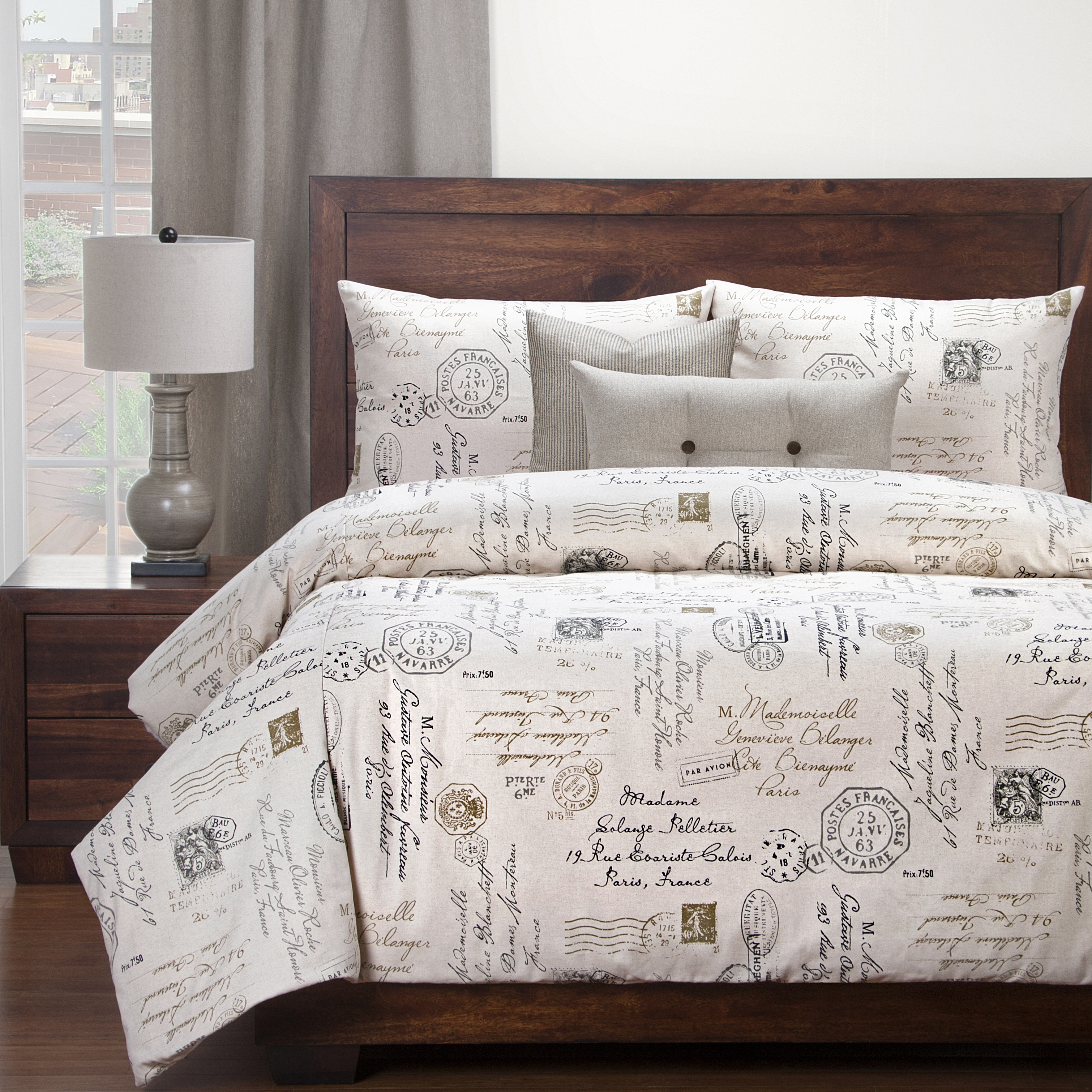 Siscovers Postscript Linen Luxury Duvet Cover Set Free Shipping Today 22454615
