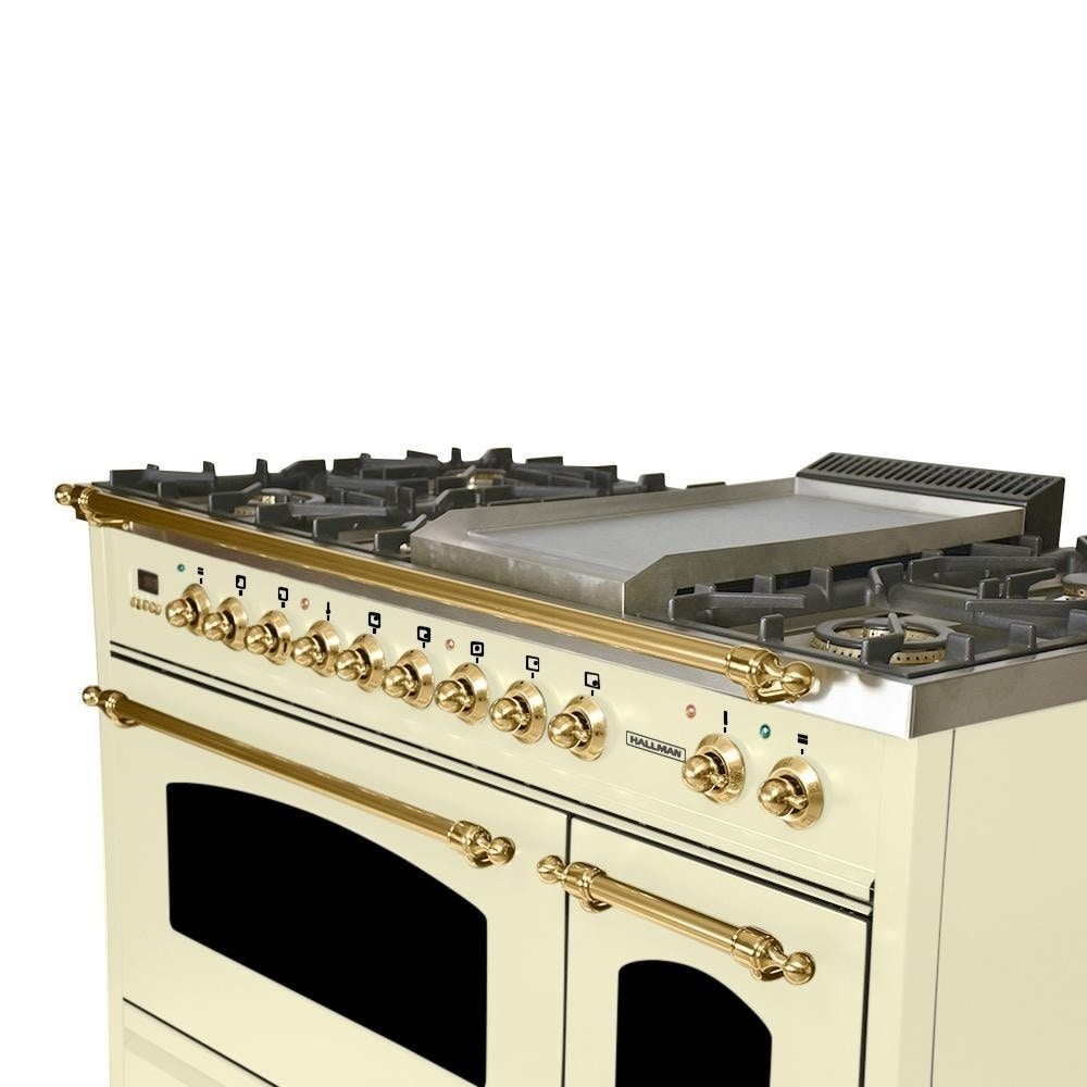 48 in. 5.0 cu. ft. Double Oven Dual Fuel Italian Range with True ...