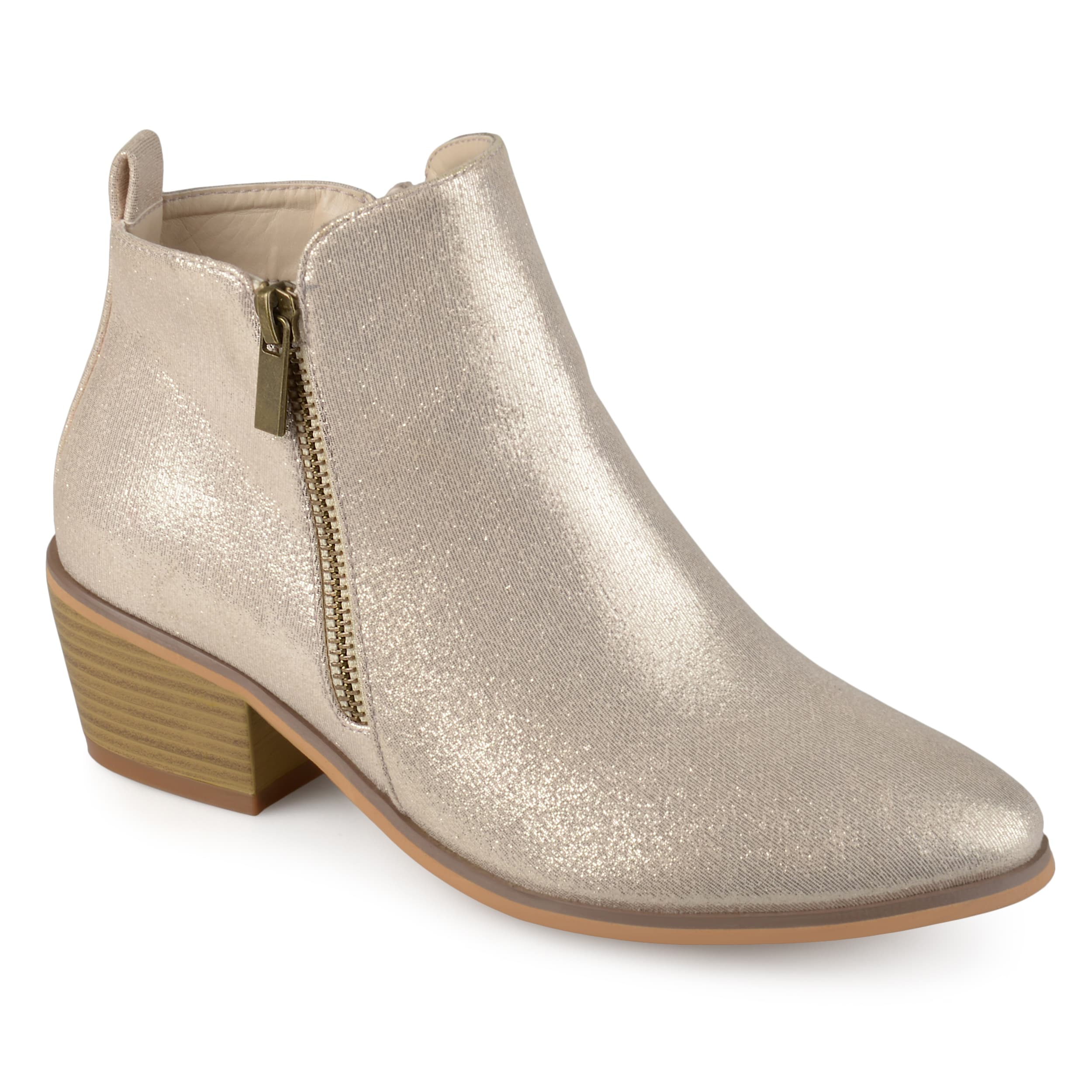6c6f7f1a34f8 Shop Journee Collection Women s  Rebel  Side Zip Stacked Heel Booties -  Free Shipping Today - Overstock - 16068749