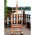 DHJ-02 360-Degree Spinner Wheel Red Beech Wood Rolling Easel