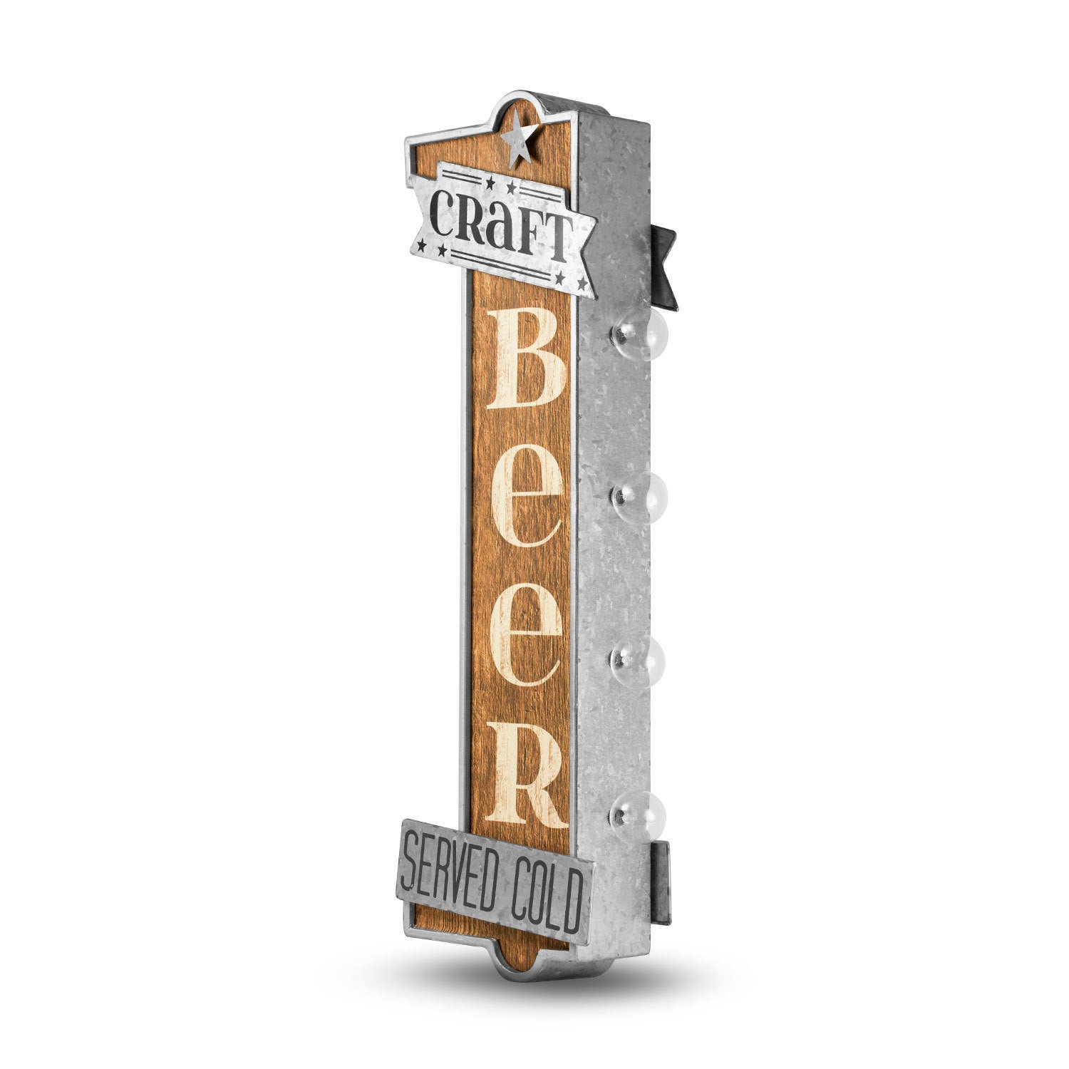 Craft Beer Metal Bar Vintage Marquee Led Sign Man Cave Wall Decor On Free Shipping Today 16069633