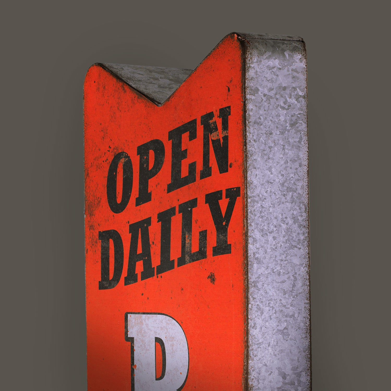 Best Open Daily Bar Metal Arrow Man Cave Marquee LED Signs - Free  QU23