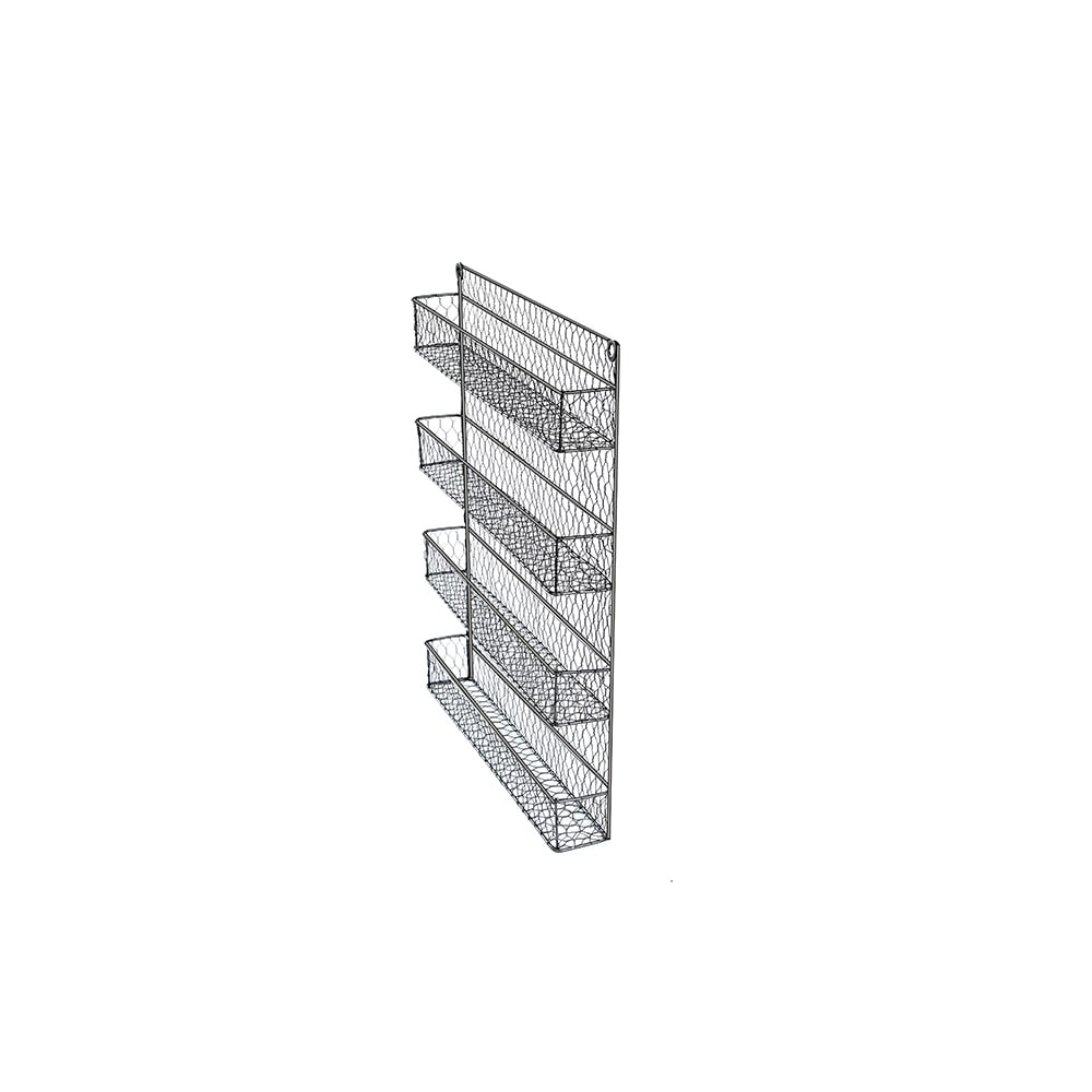 Shop 4-Tier Wire Spice Rack Storage Organizer - Wall Mount or Countertop by  Trademark Innovations - Free Shipping On Orders Over $45 - Overstock.com -  ...