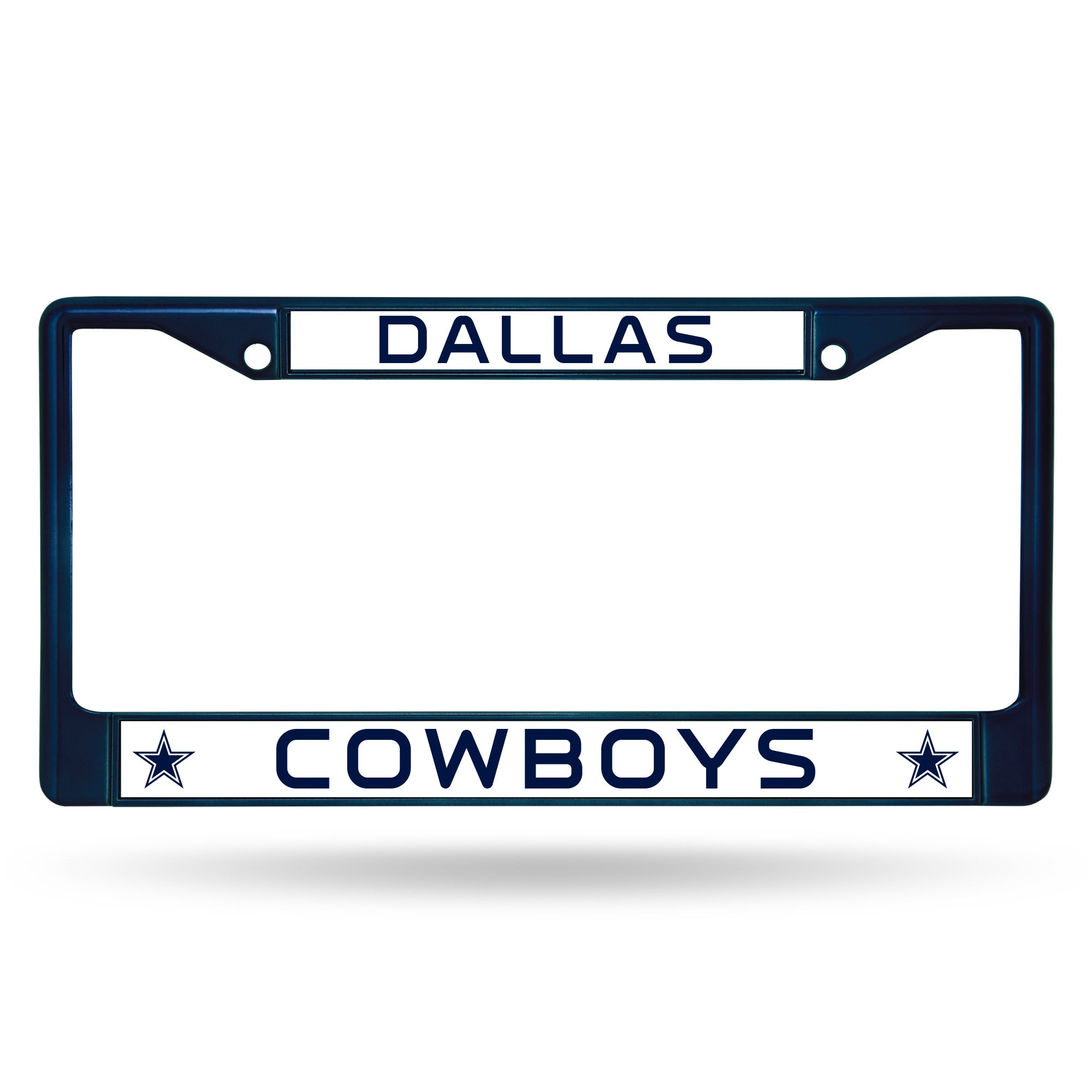 Shop Dallas Cowboys NFL Navy Color License Plate Frame - Free ...