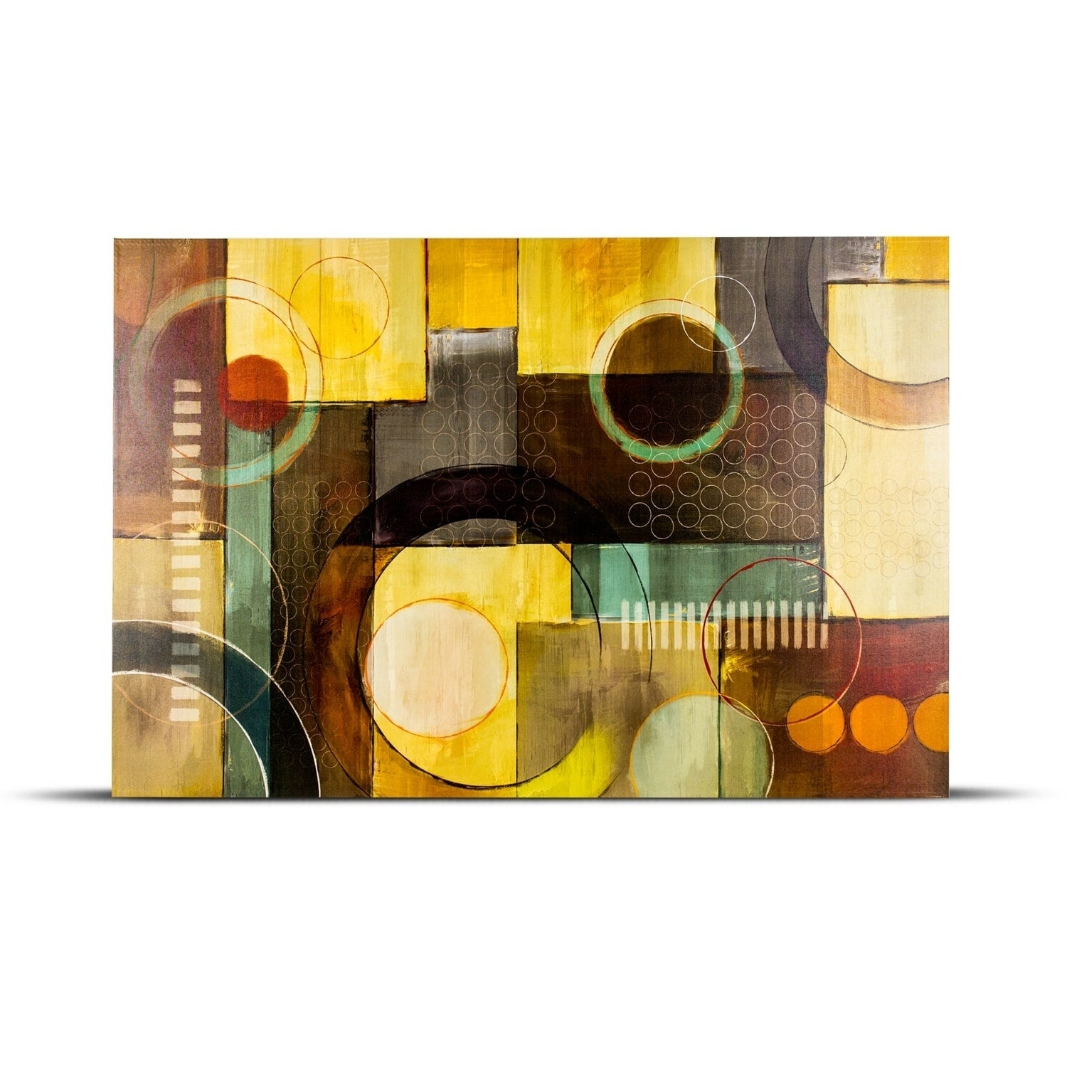 Abstract Geometric Shapes Wall Art Painting Print on Wrapped Canvas ...