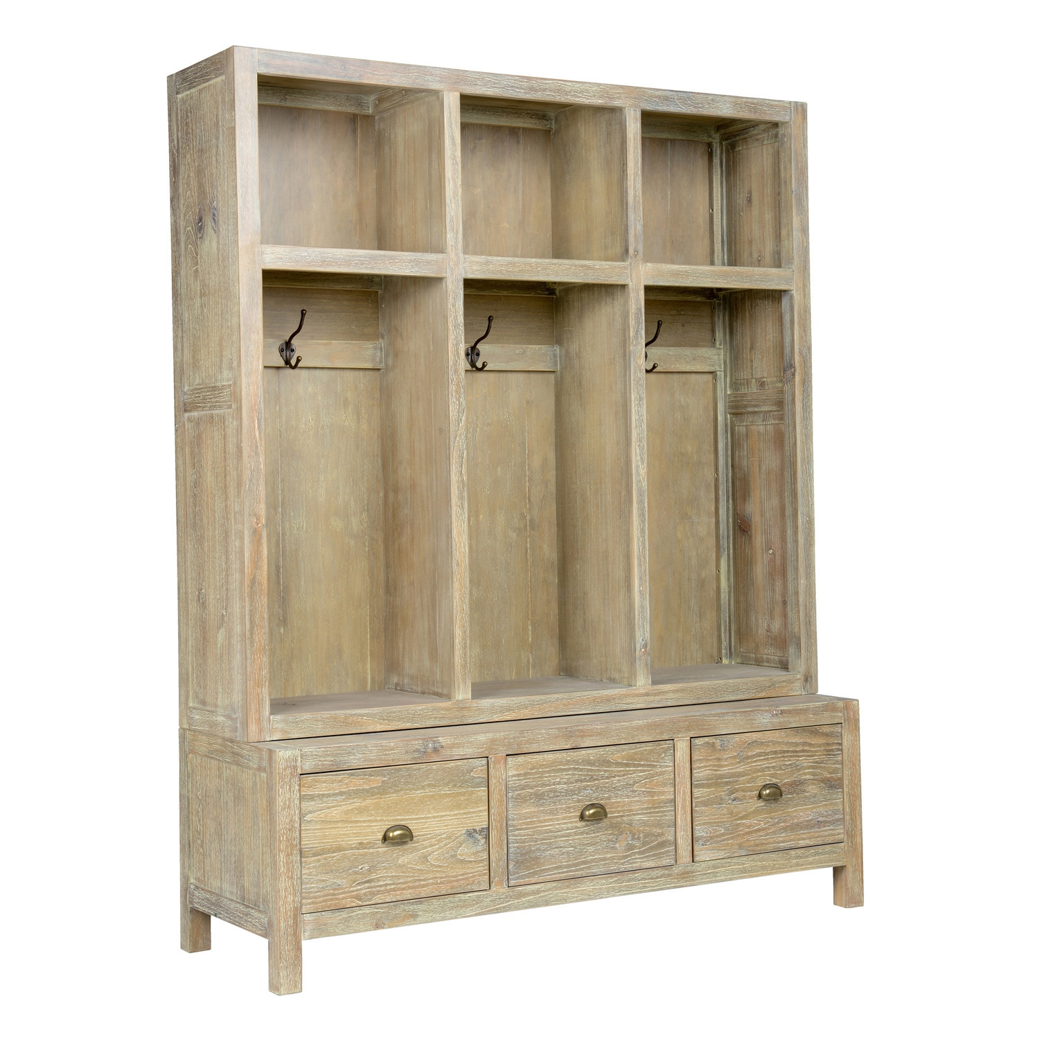 Sierra Hand Crafted Taupe Entryway Storage Bench by Kosas Home - Free  Shipping Today - Overstock.com - 22458665