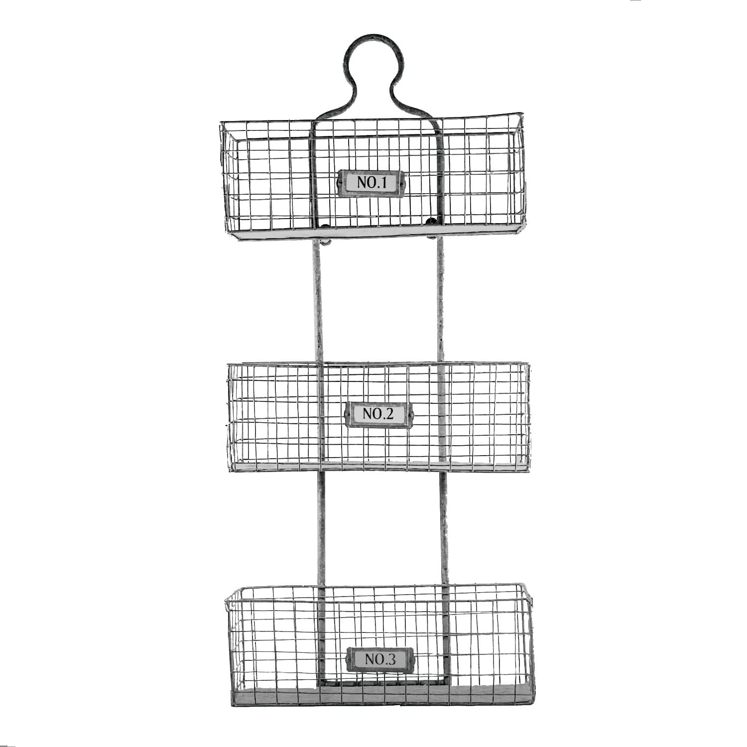 American Art Decor Three Tier Storage Wire Baskets Wall Hanging Or Free  Standing