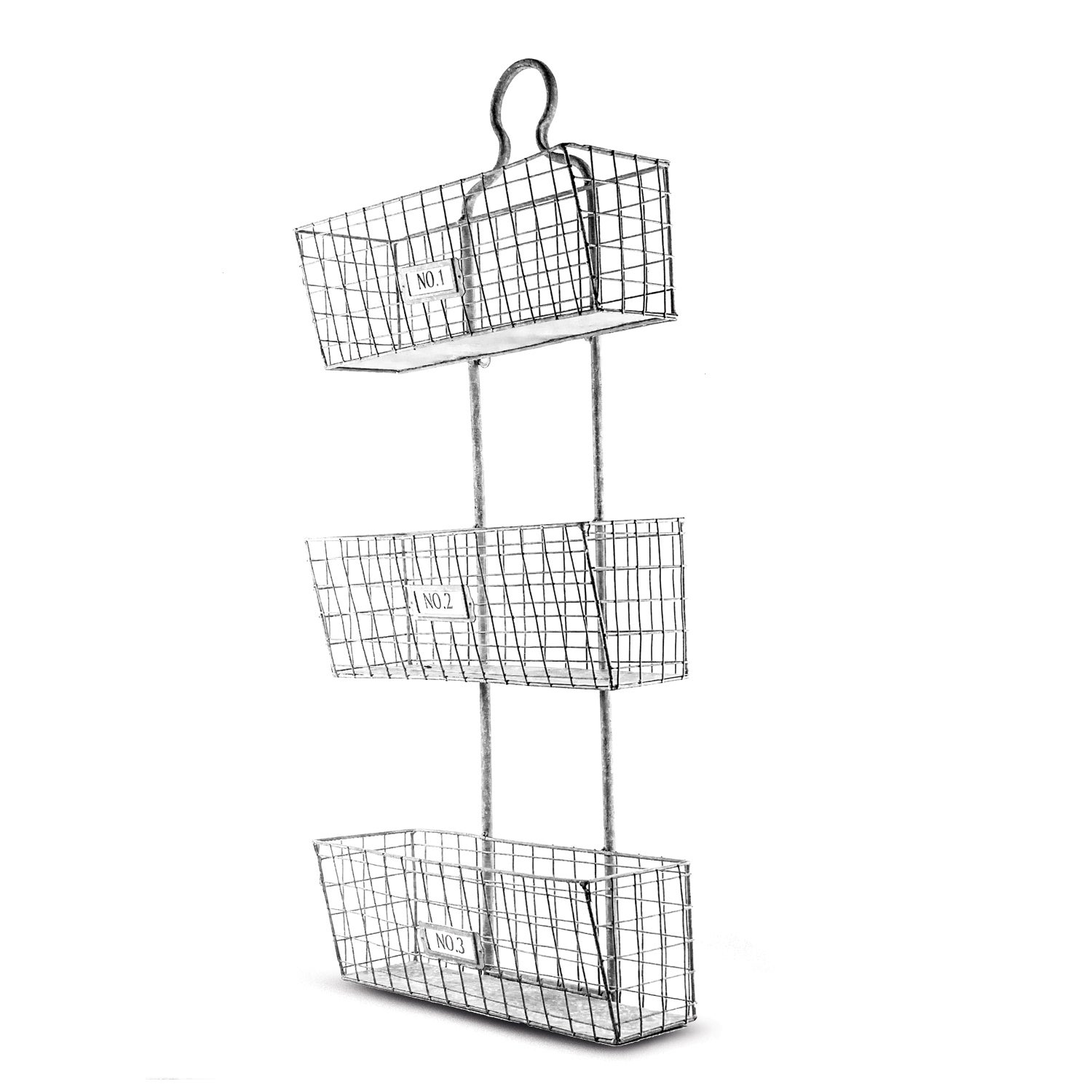 Three Tier Storage Wire Baskets Wall Hanging or Free Standing Free