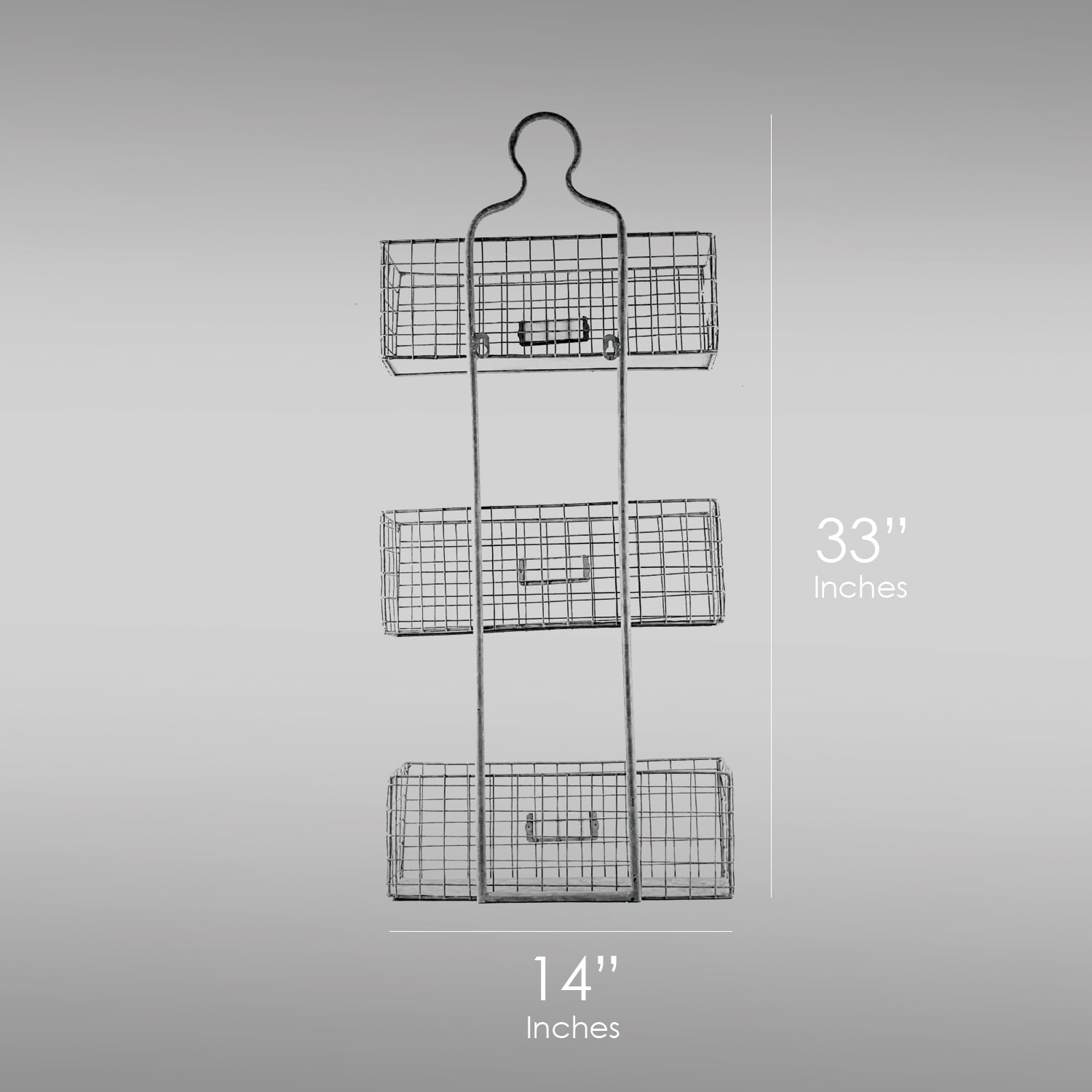 Shop Three Tier Storage Wire Baskets Wall Hanging or Free Standing - On  Sale - Free Shipping Today - Overstock.com - 16077609