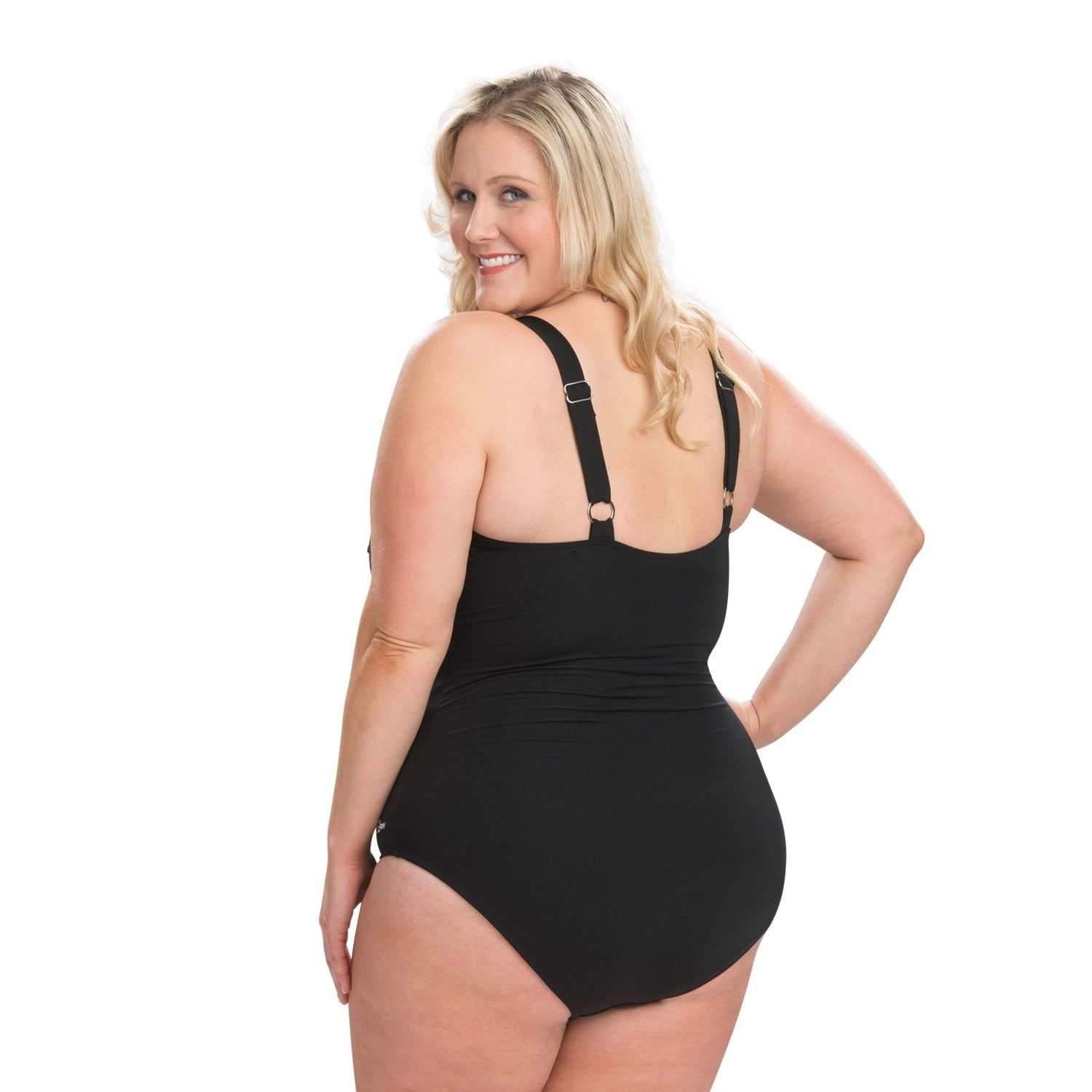 a9d91ec088d Shop Dolfin Aquashape Plus Size Drape Front One Piece Swimsuit with Tummy  Control - Free Shipping Today - Overstock - 16077763