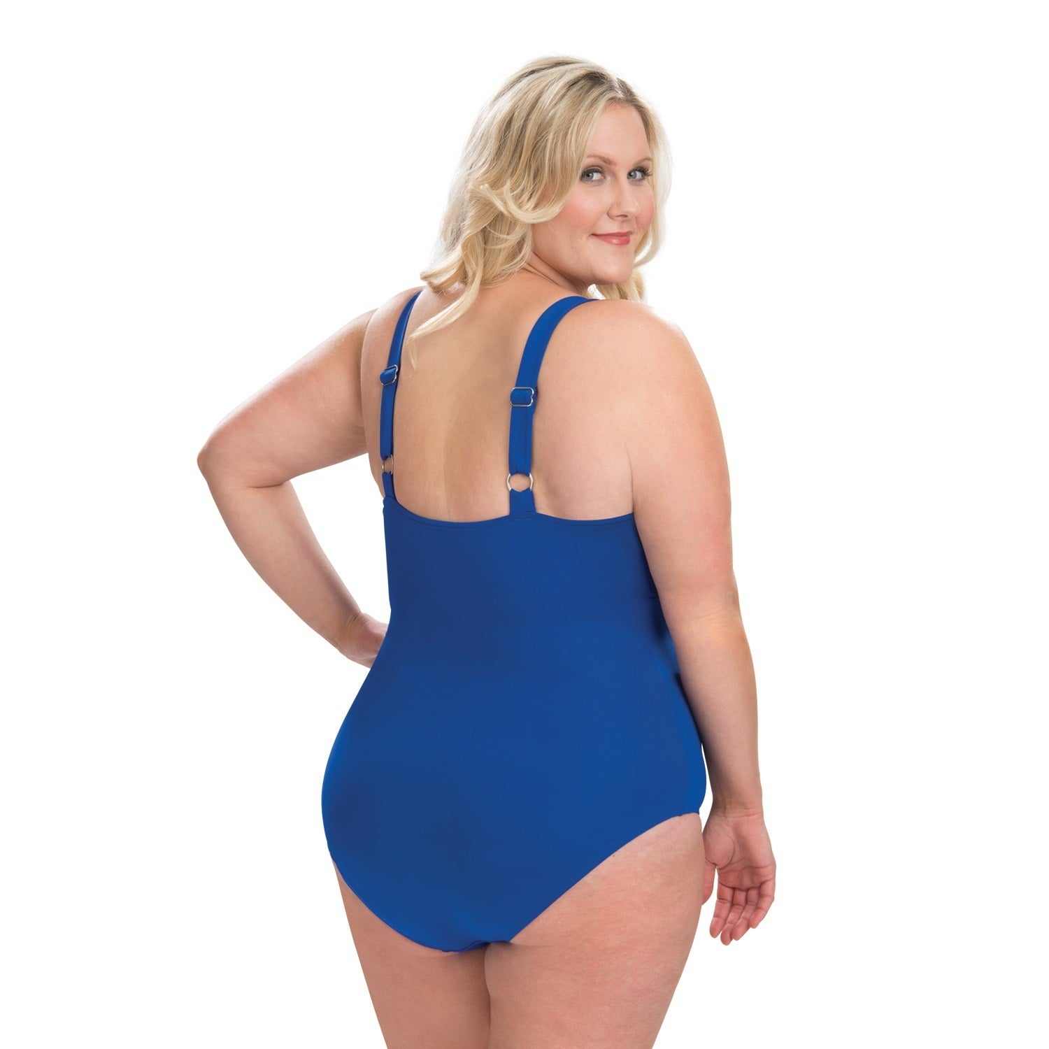 795e8cdd26d Shop Dolfin Aquashape Plus Size Drape Front One Piece Swimsuit with Tummy  Control - Free Shipping Today - Overstock - 16077764