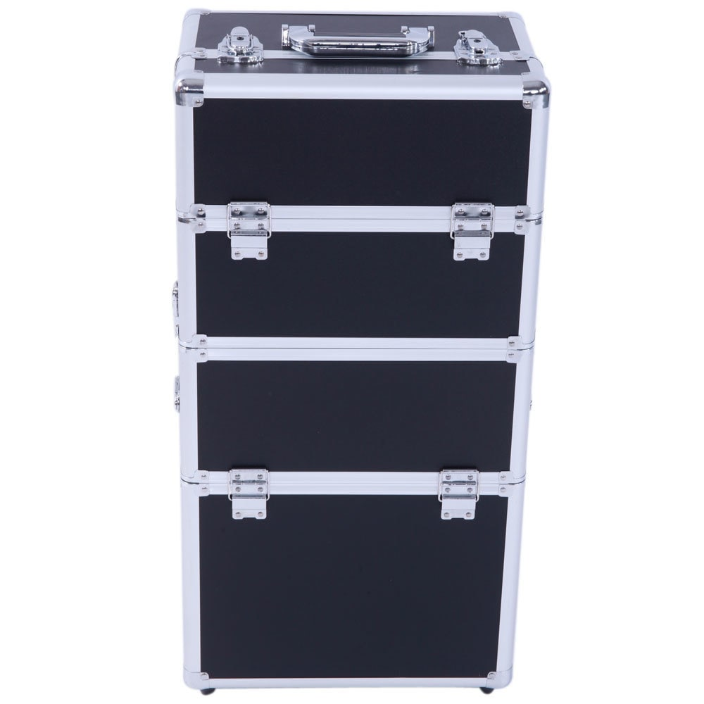 Shop Pro 3 In 1 Aluminum Rolling Makeup Train Case   Free Shipping Today    Overstock.com   16079017