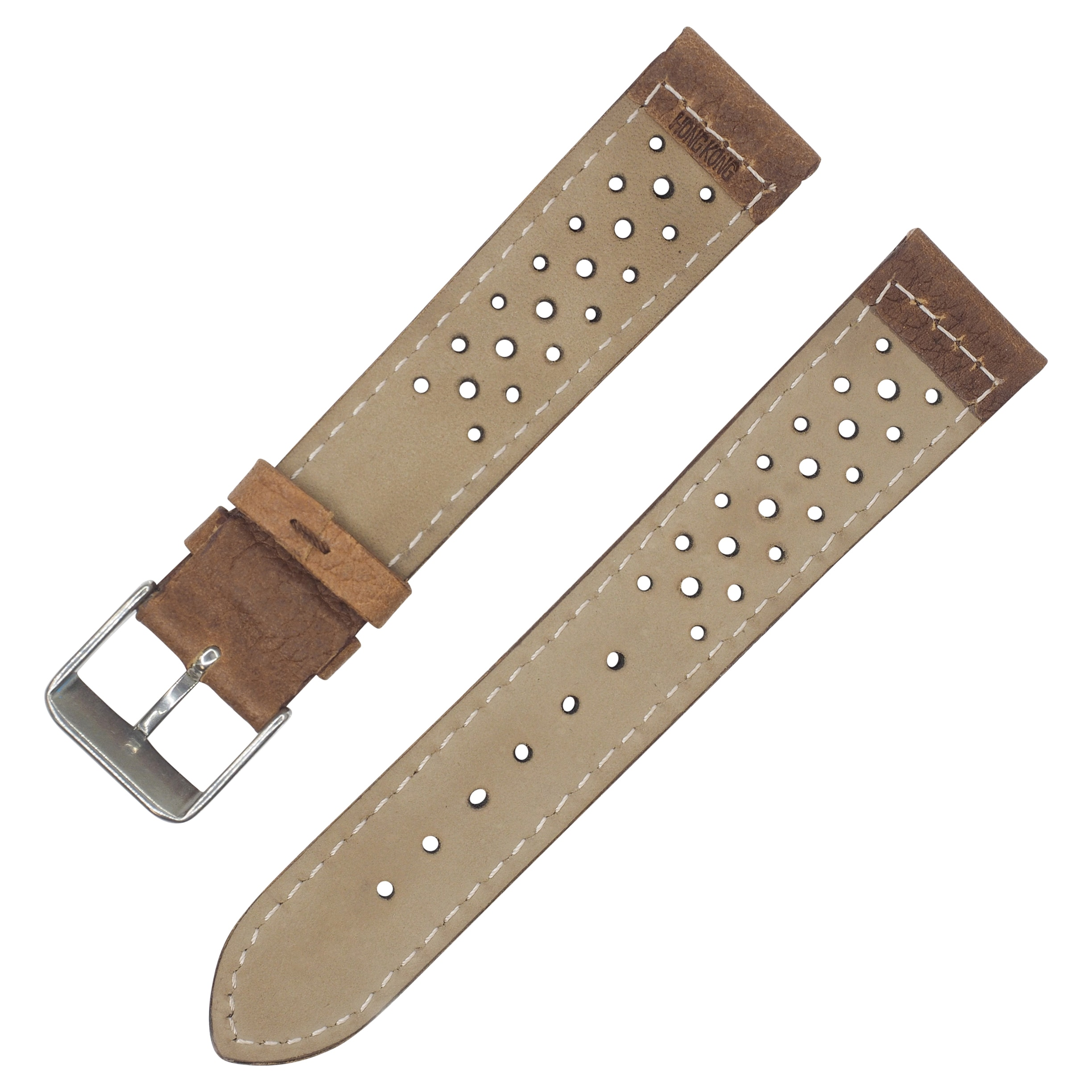 Dakota Vintage Style Brown Padded Watch Band 18mm 20mm With Holes On Free Shipping Orders Over 45 16079034
