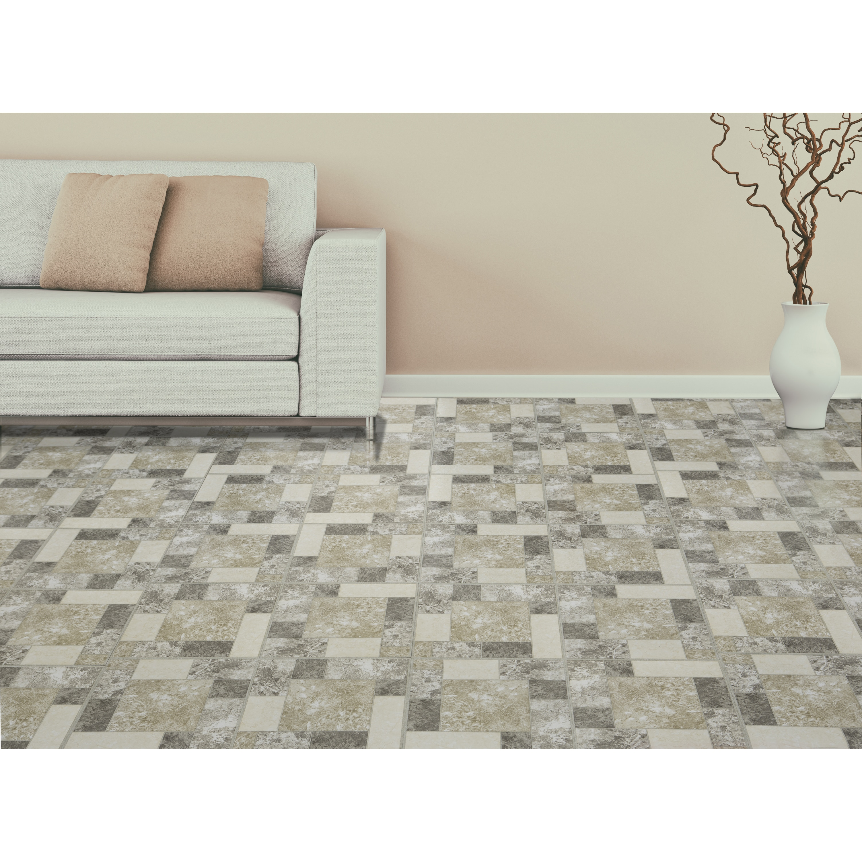 Shop Achim Tivoli Marble Blocks 12x12 Self Adhesive Vinyl Floor Tile