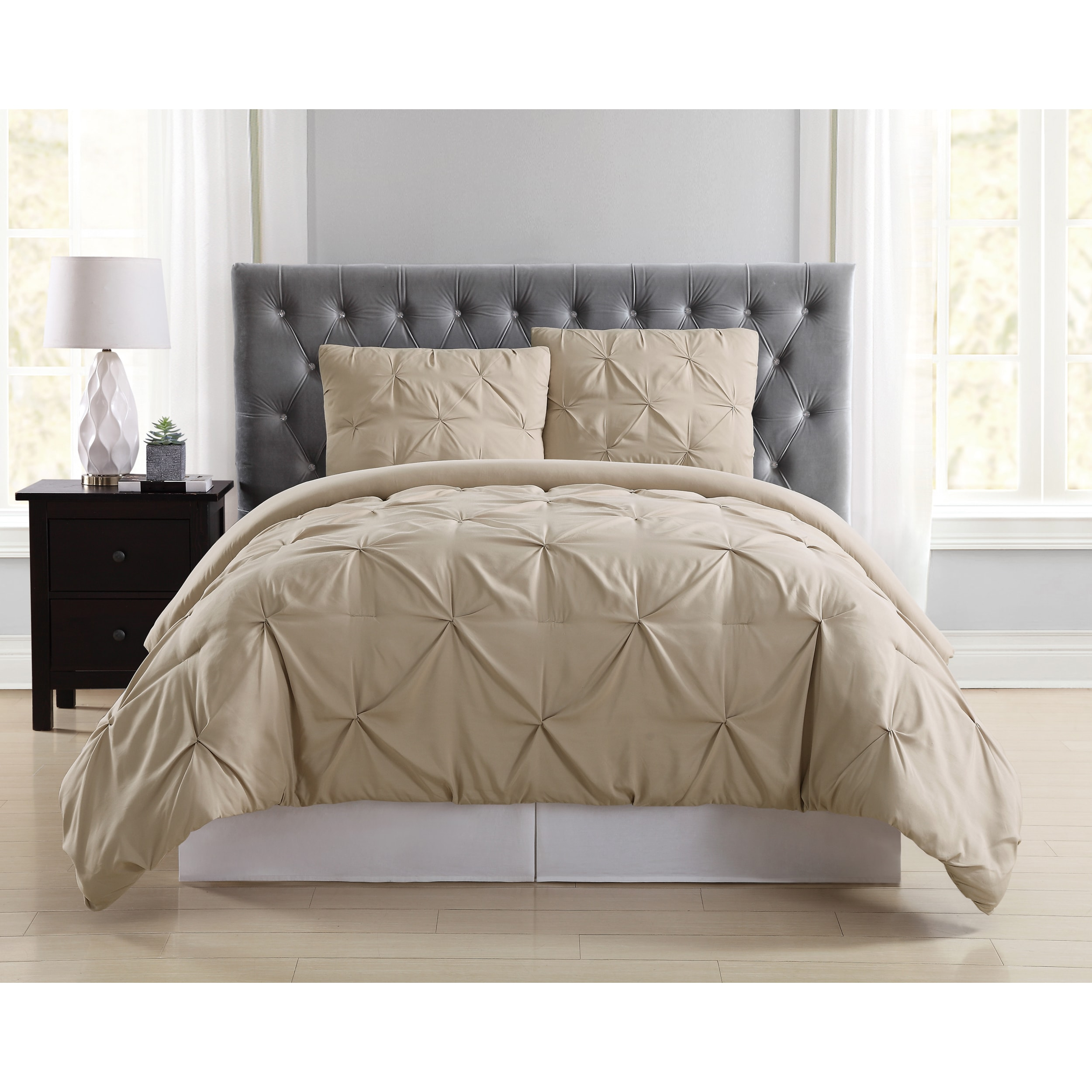 home com solid comforter bedding quilted essence alexis ip color walmart piece set