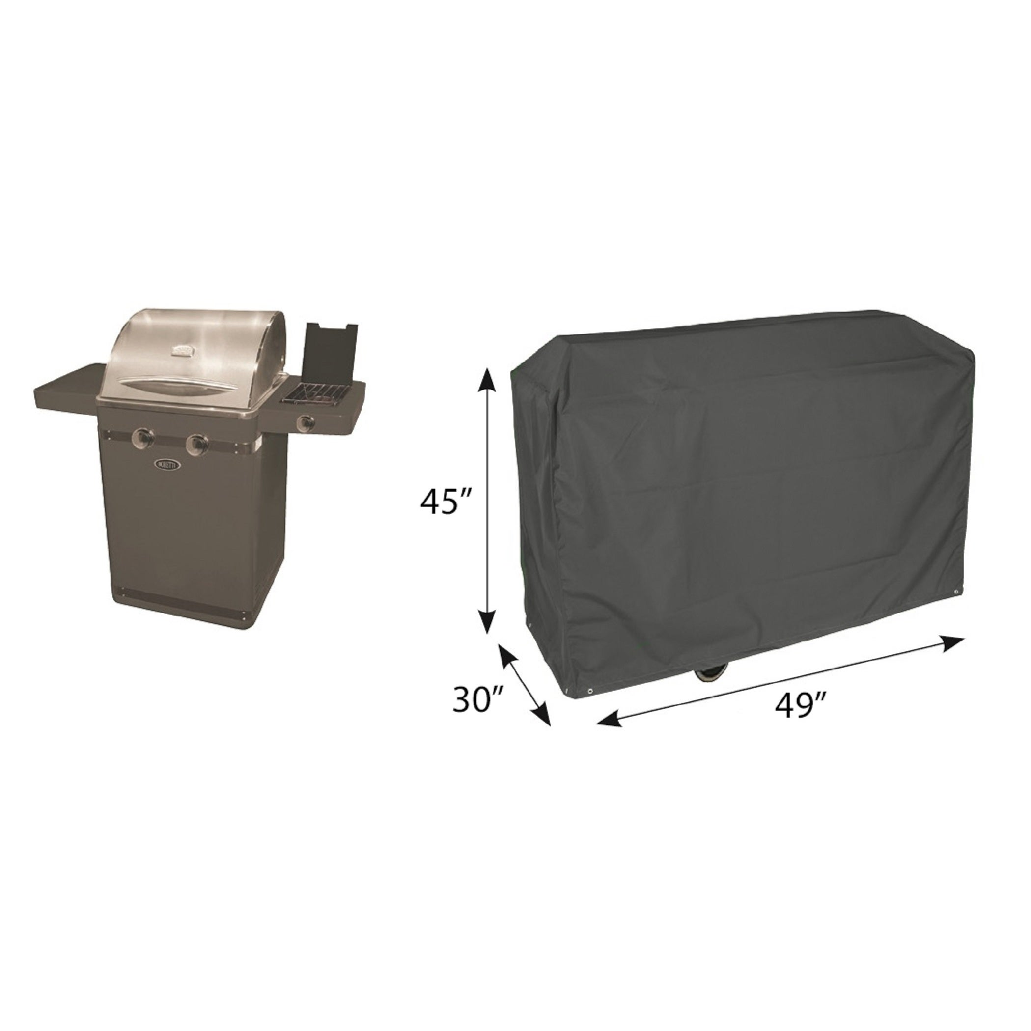 Shop Bosmere Deluxe Weatherproof Xl 49 Inch Bbq Grill Cover Free