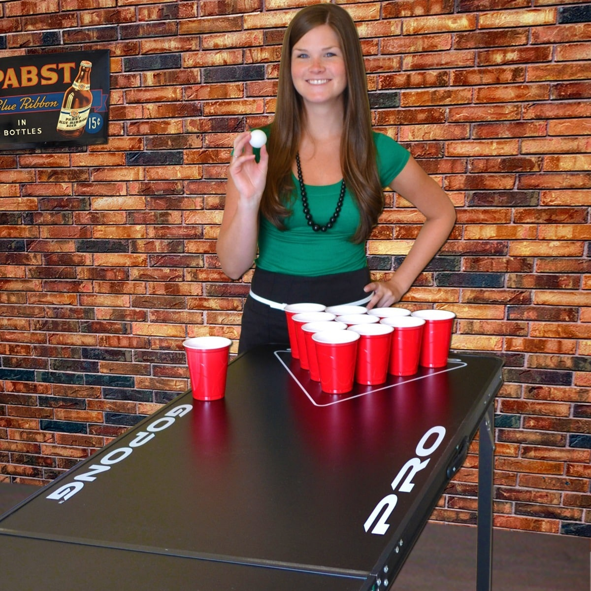Gopong Pro Black 8 Foot 36 Inch Tall Premium Heavy Duty Beer Pong Table Free Shipping Today 16079983