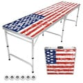 GoPong American Flag Edition 8-foot Beer Pong/Tailgate Table