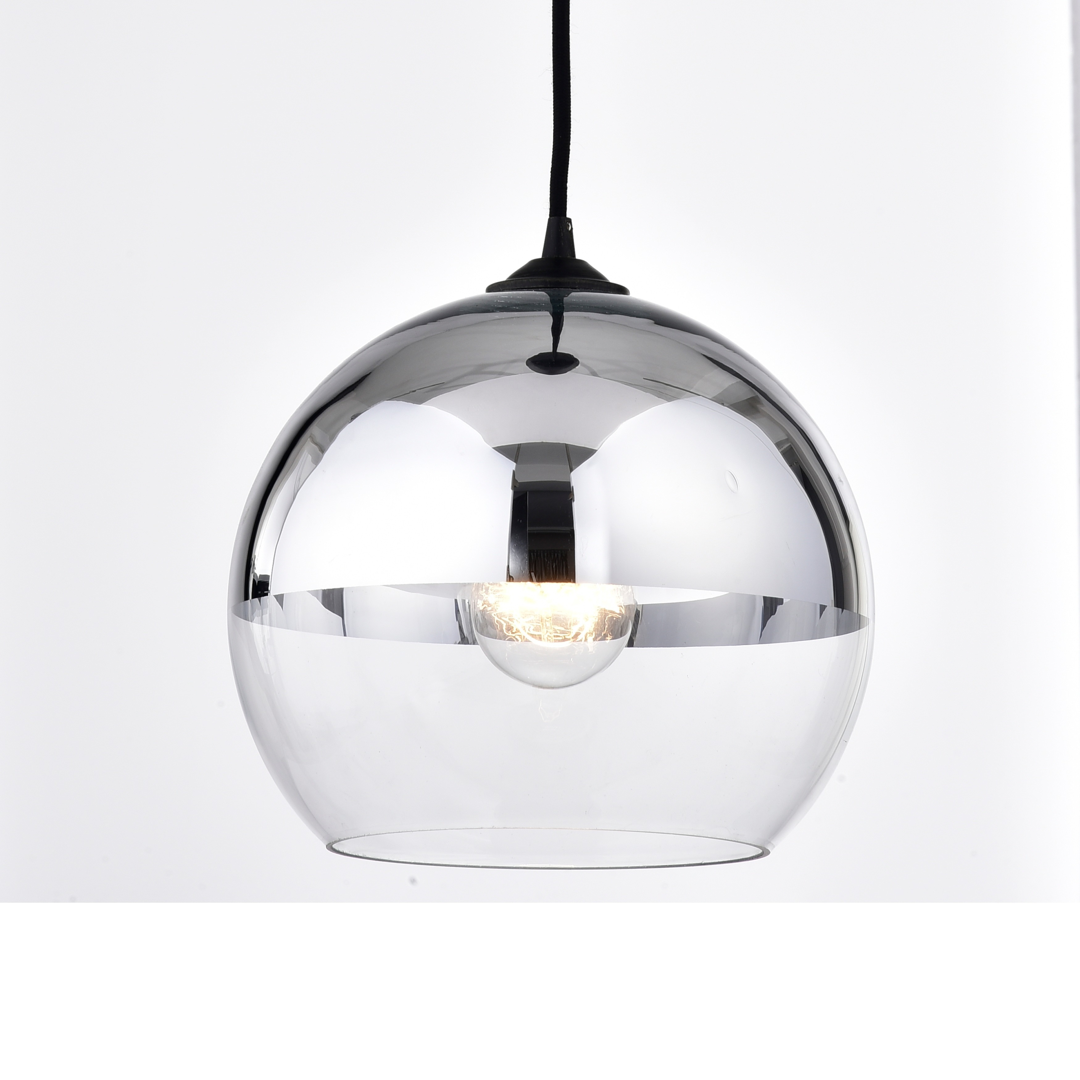 Luna antique black single light chrome finish glass globe pendant luna antique black single light chrome finish glass globe pendant chandelier free shipping on orders over 45 overstock 22467856 aloadofball Image collections