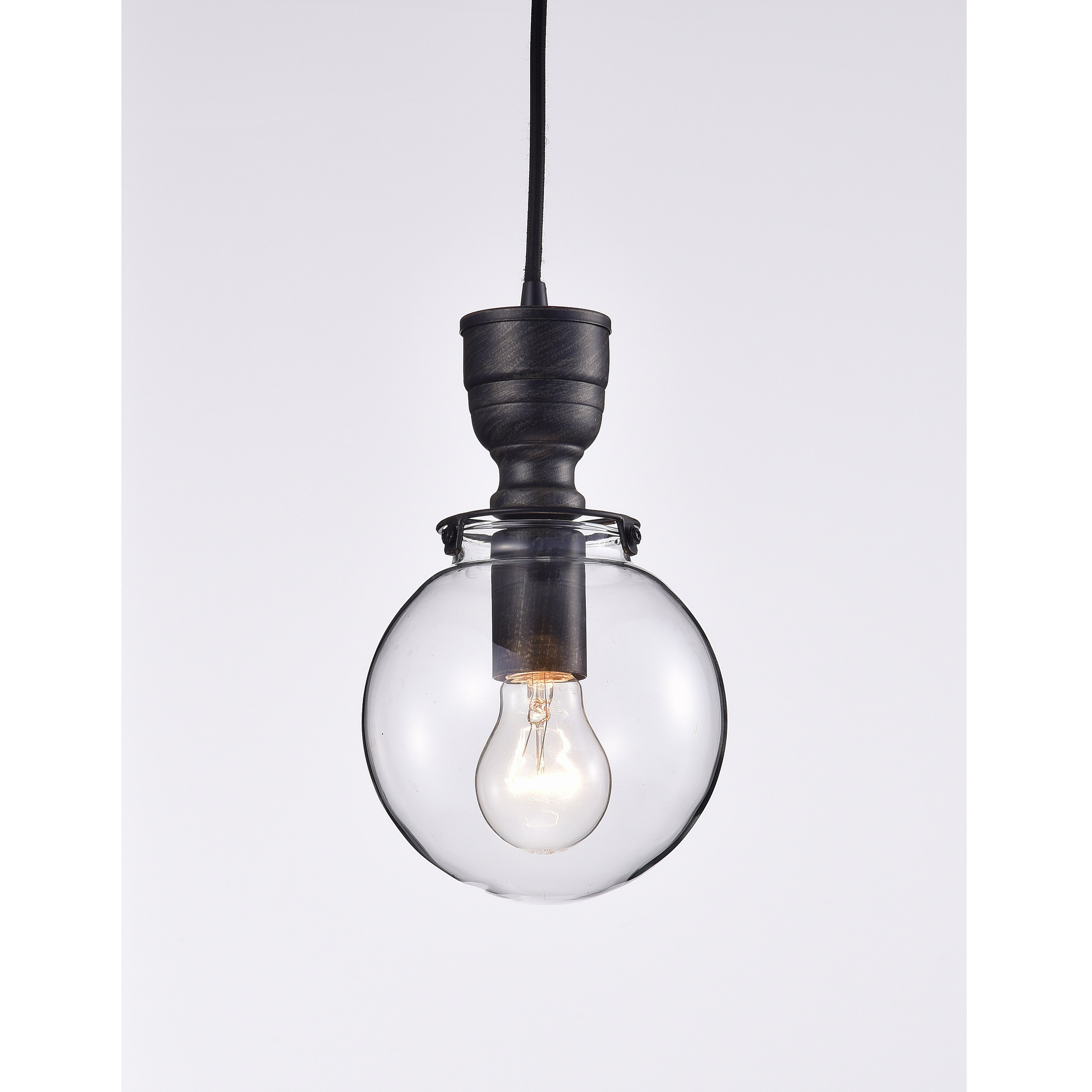 Luna mini clear glass globe pendant chandelier in antique black luna mini clear glass globe pendant chandelier in antique black free shipping on orders over 45 overstock 22467857 aloadofball Image collections