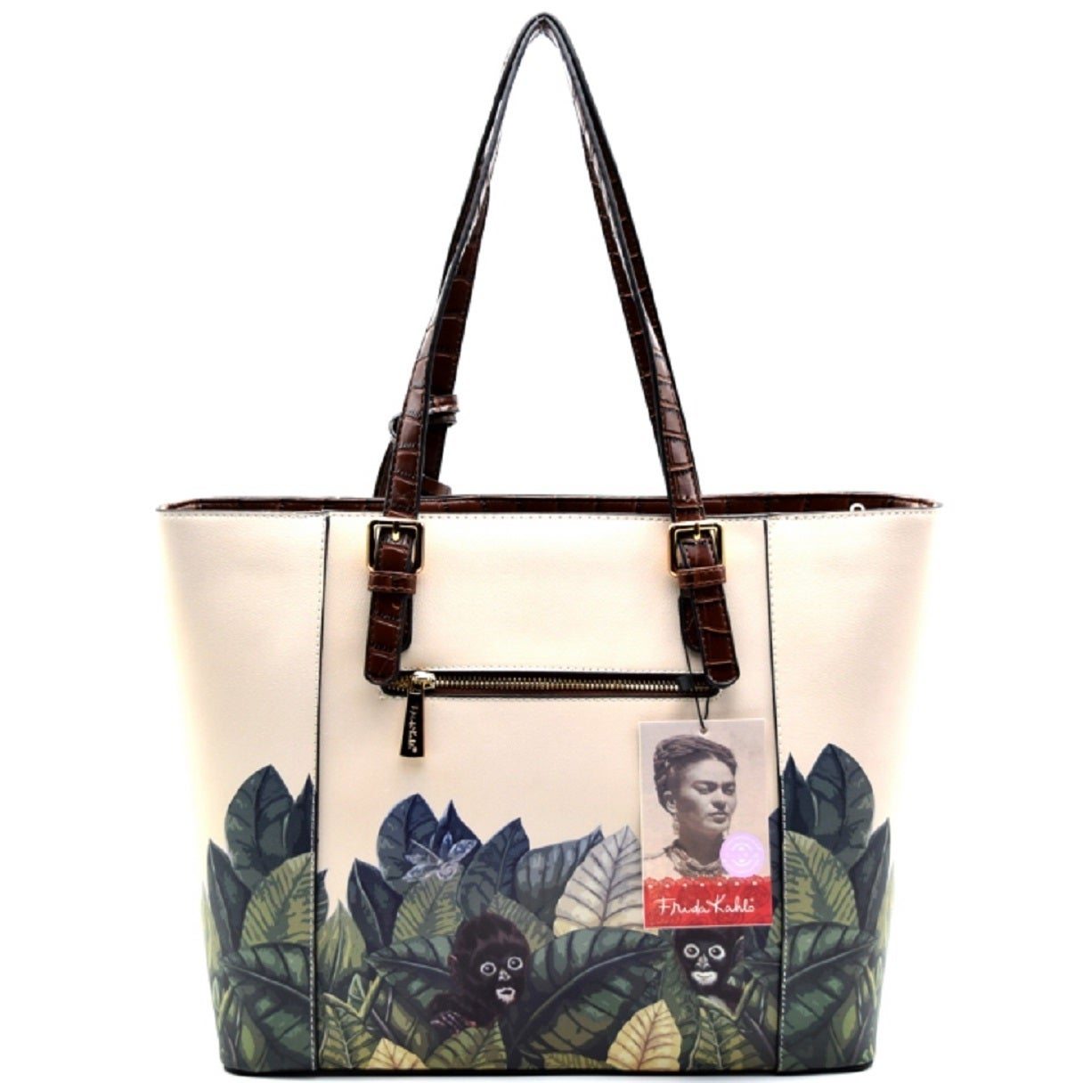 618065a68 Shop Frida Kahlo Jungle Series Shopper Tote Bag with Coin Purse - Free  Shipping Today - Overstock - 16088775