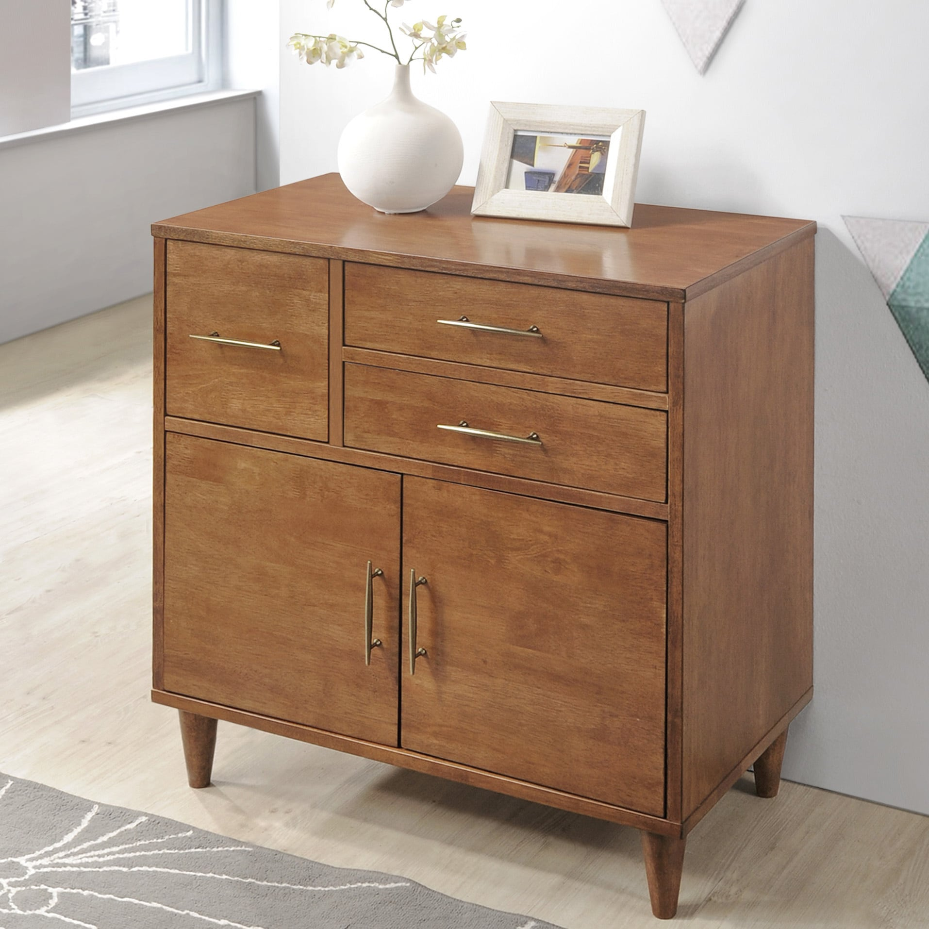 New Jasper Laine Ana Oak Entry Way Cabinet - Free Shipping Today  XD25