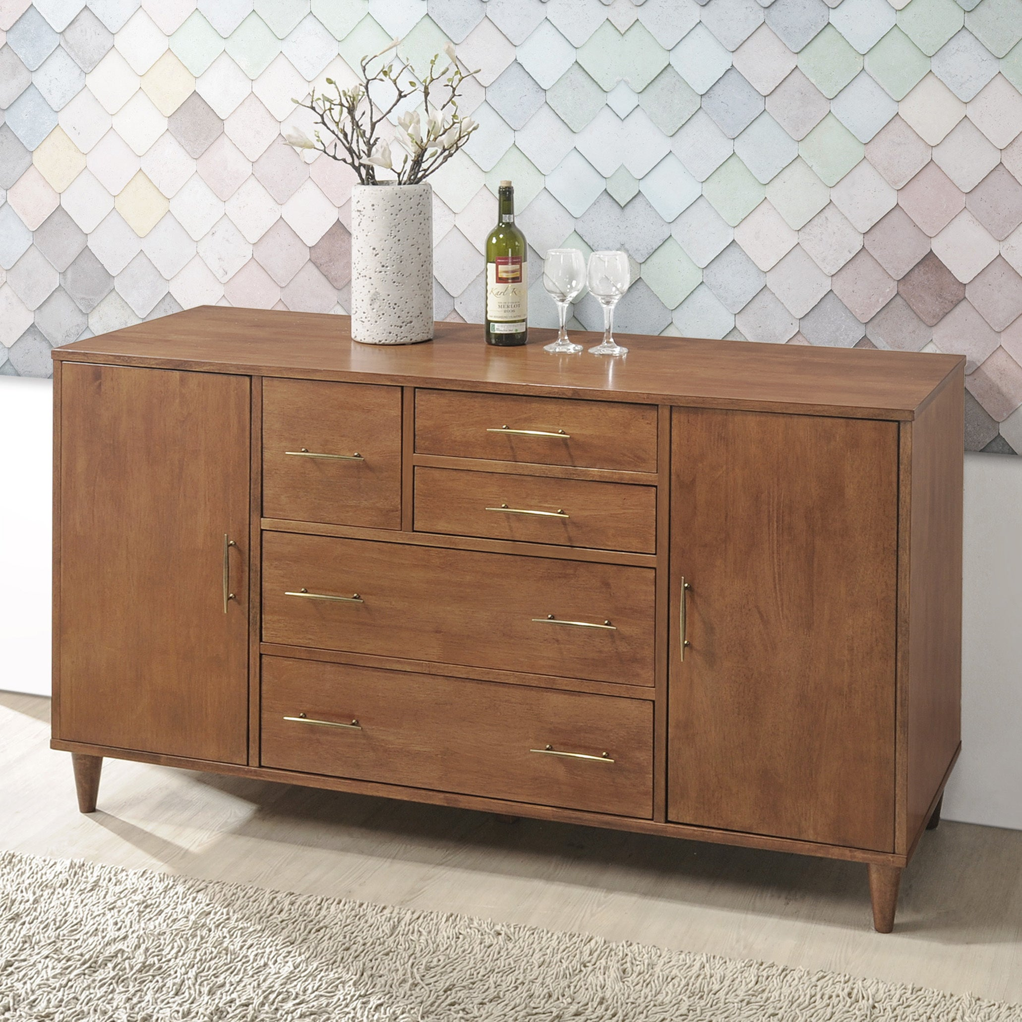 Shop Jasper Laine Ana Oak Dining Room Buffet   Free Shipping Today    Overstock.com   16094208