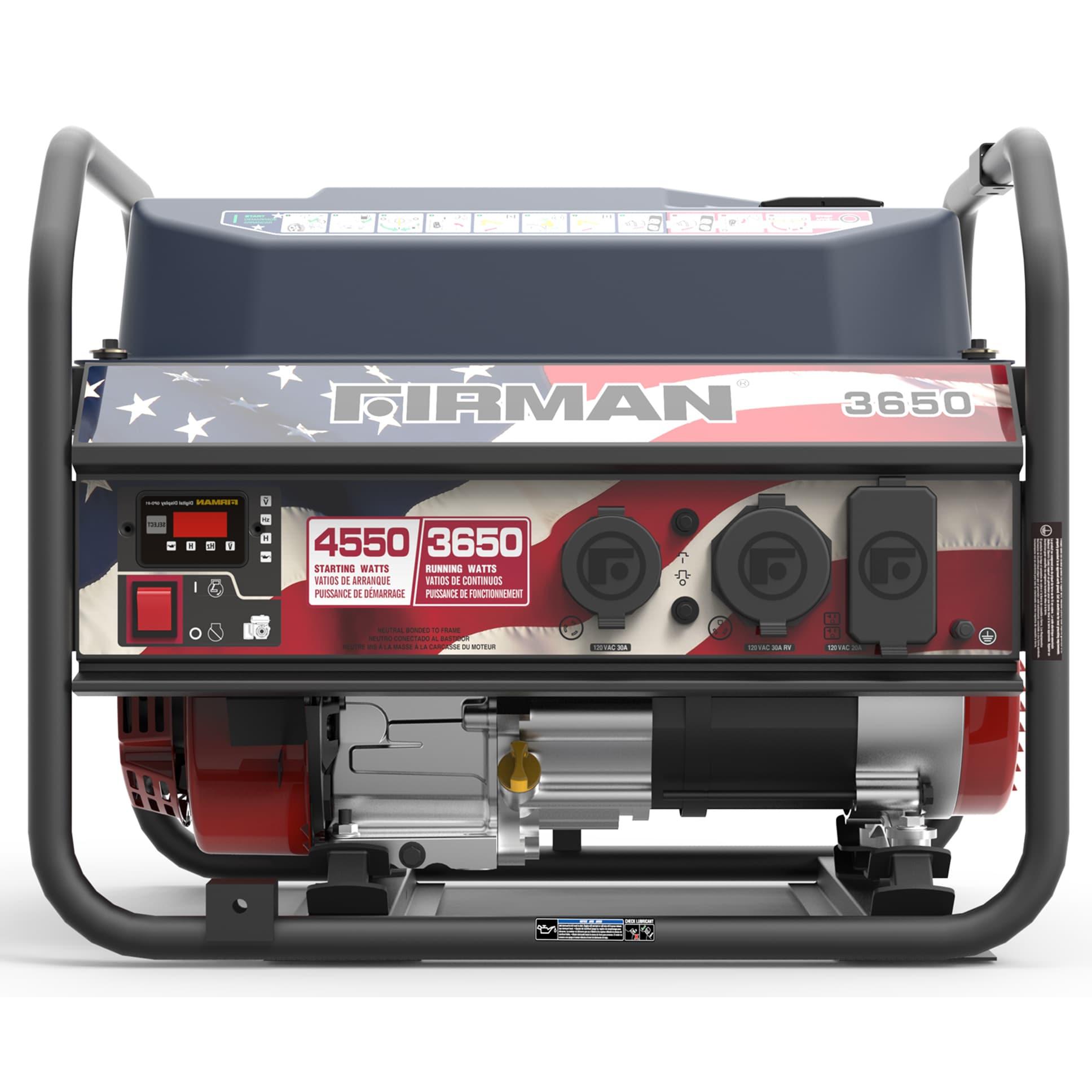 Firman Power Equipment P 3650 4550 Watt Portable Gas