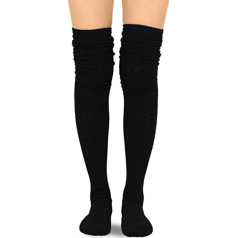 b8eb7229e2812 Shop Teehee Women's Fashion Extra Long Cotton Thigh-high Socks (4 Pairs) -  Ships To Canada - Overstock - 16105650